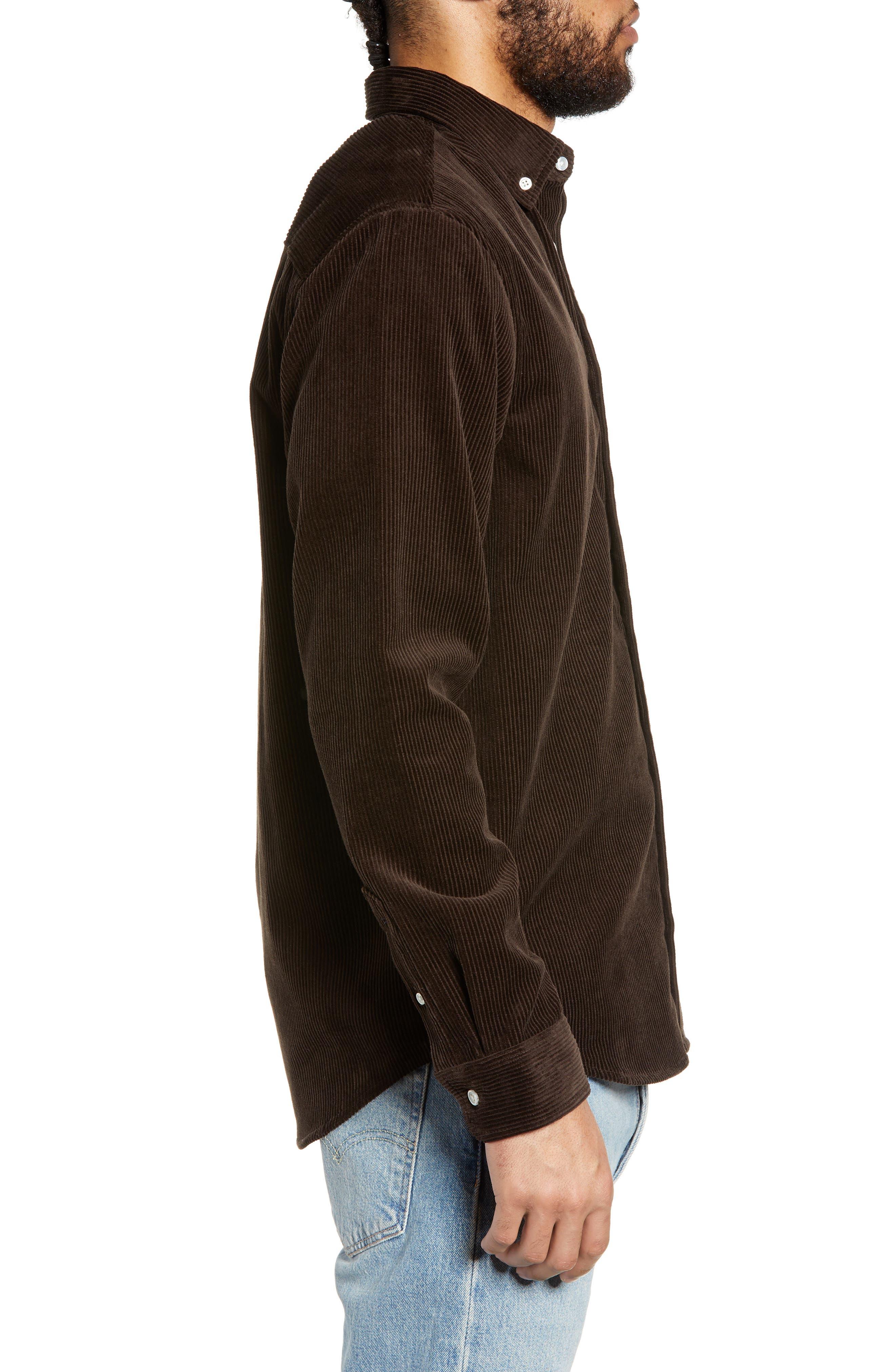 Madison Corduroy Shirt,                             Alternate thumbnail 4, color,                             TOBACCO / WAX