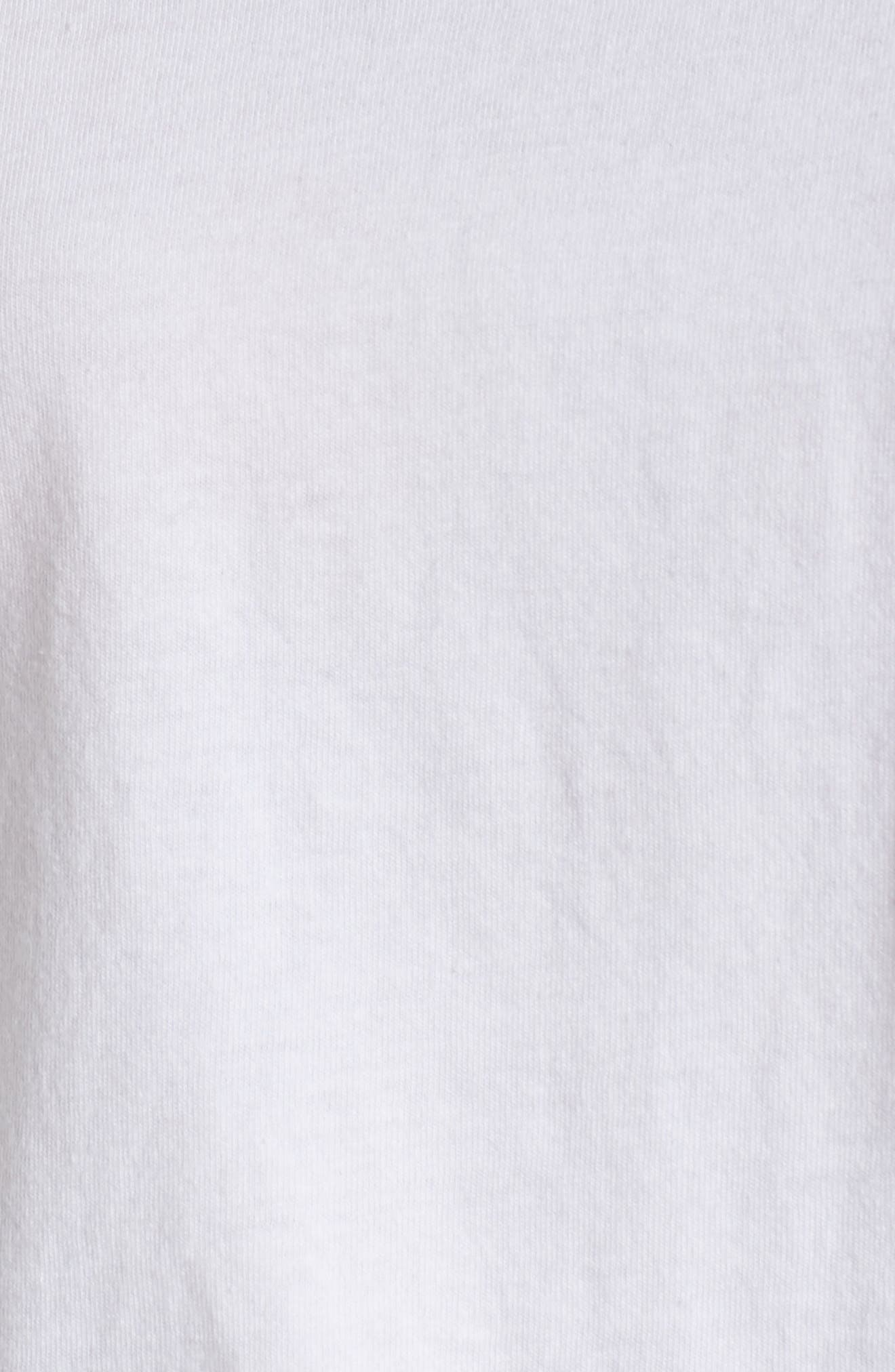 Long Sleeve Pocket Tee,                             Alternate thumbnail 5, color,                             WHITE