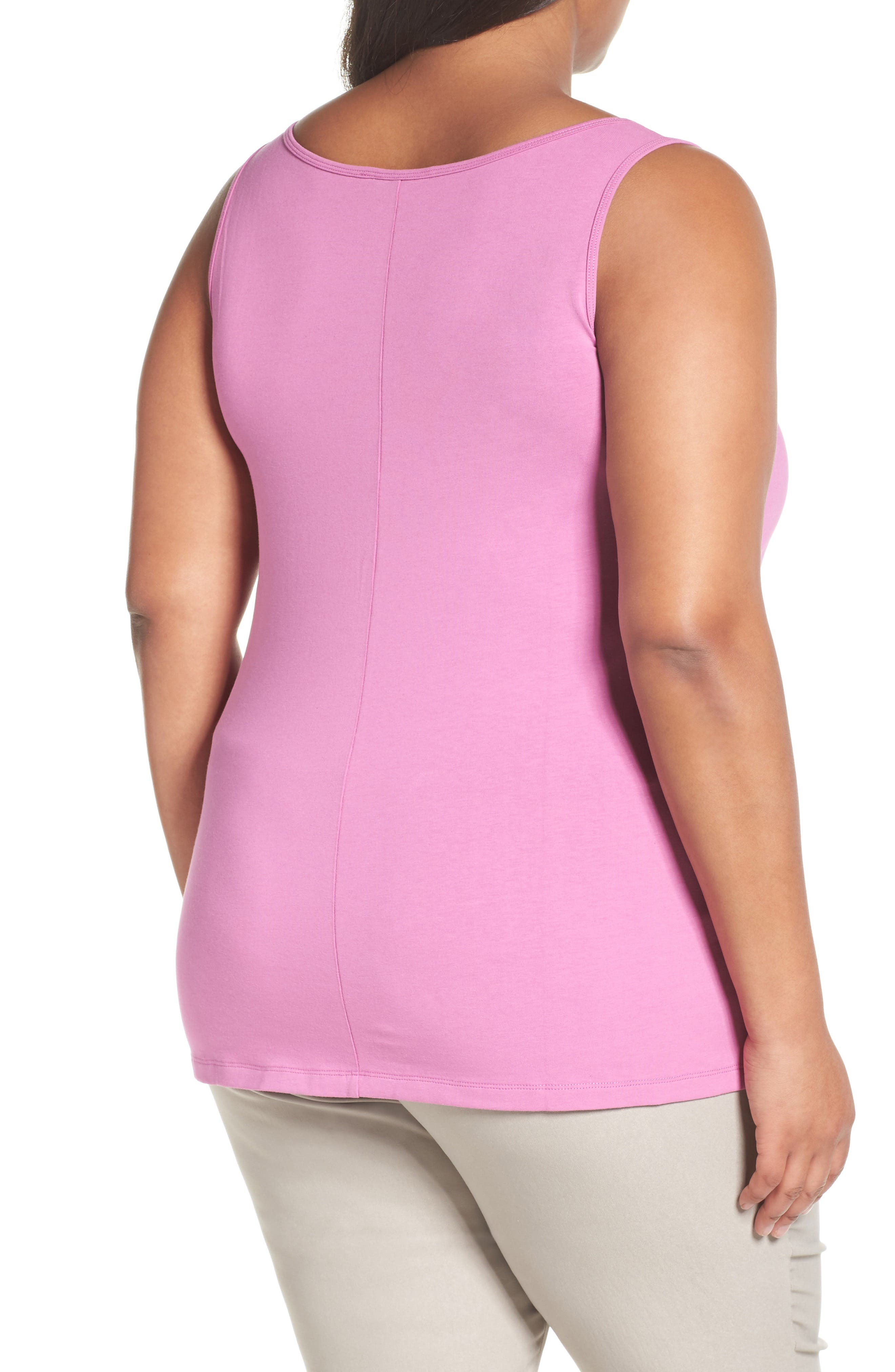 Perfect Scoop Neck Tank,                             Alternate thumbnail 2, color,                             CLOVER
