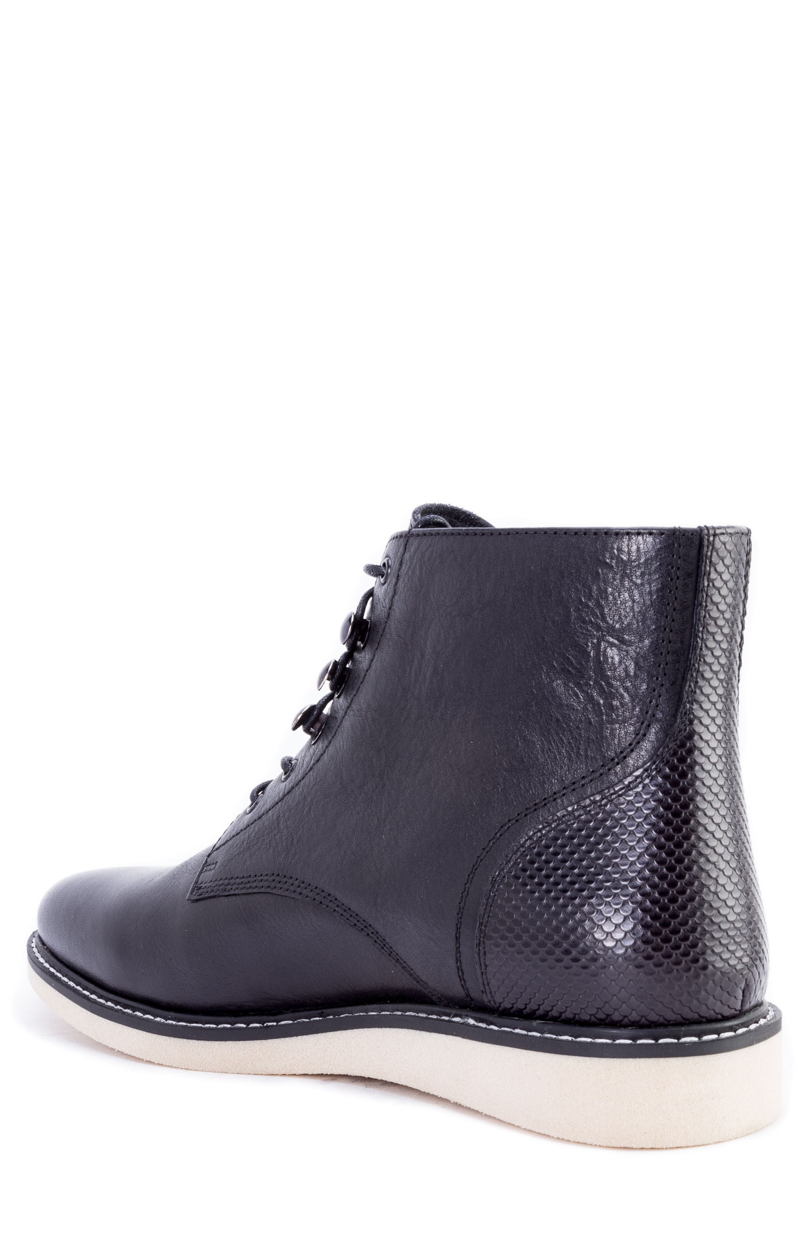 Finch Plain Toe Boot,                             Alternate thumbnail 2, color,                             BLACK LEATHER