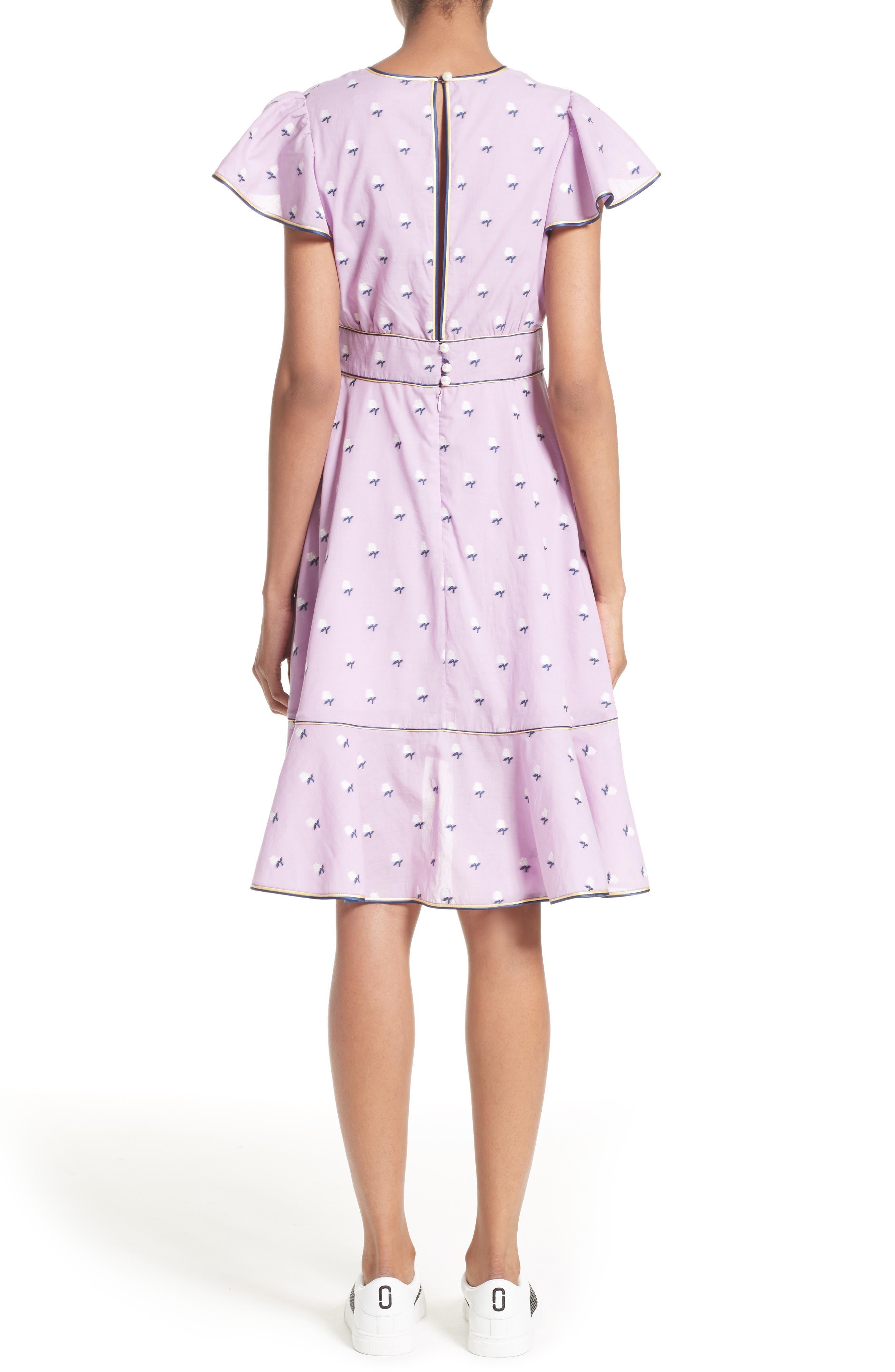 Ruffle Reverse Fil Coupé Dress,                             Alternate thumbnail 2, color,                             507