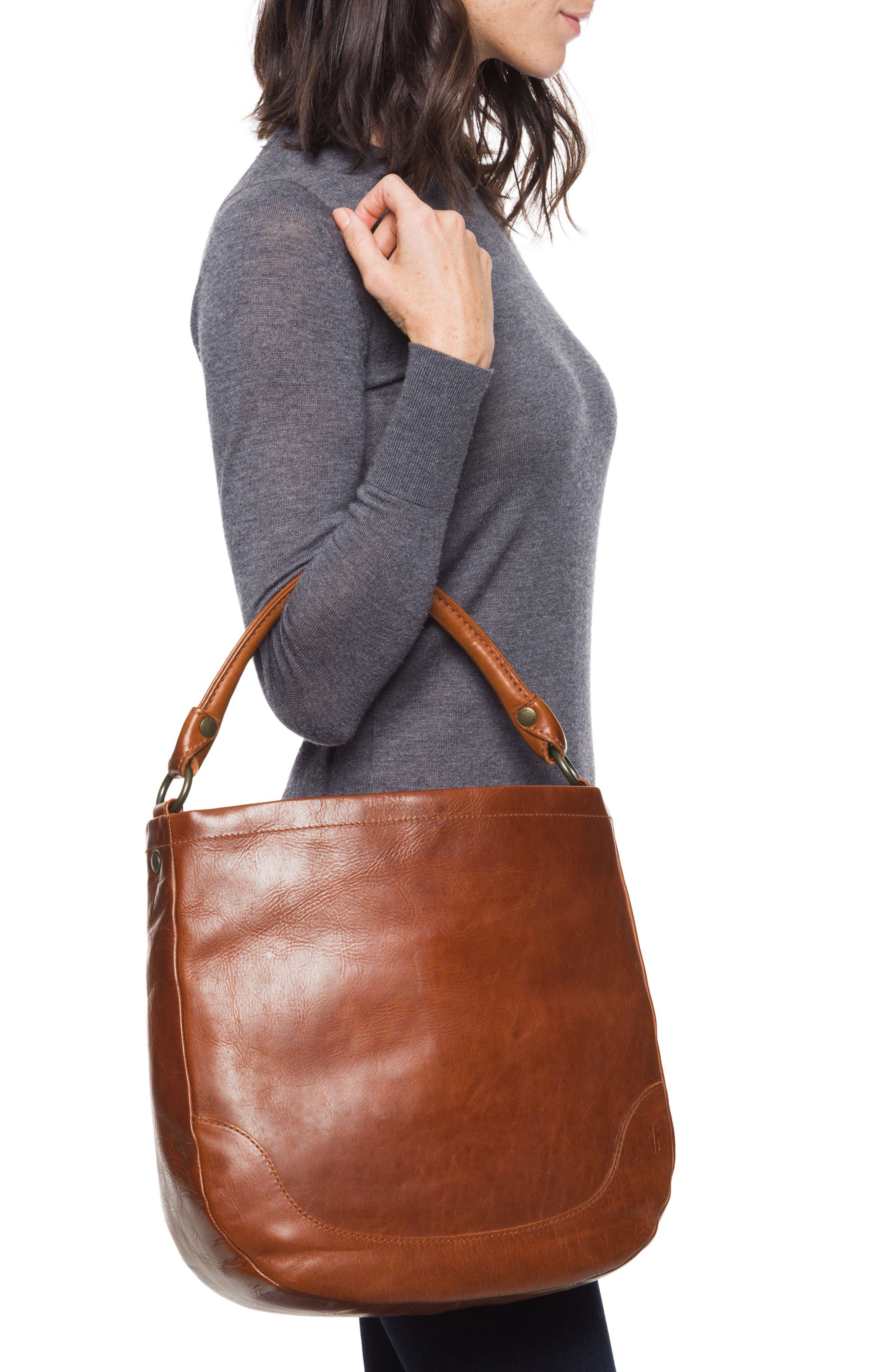 Melissa Leather Hobo,                             Alternate thumbnail 2, color,                             RED CLAY