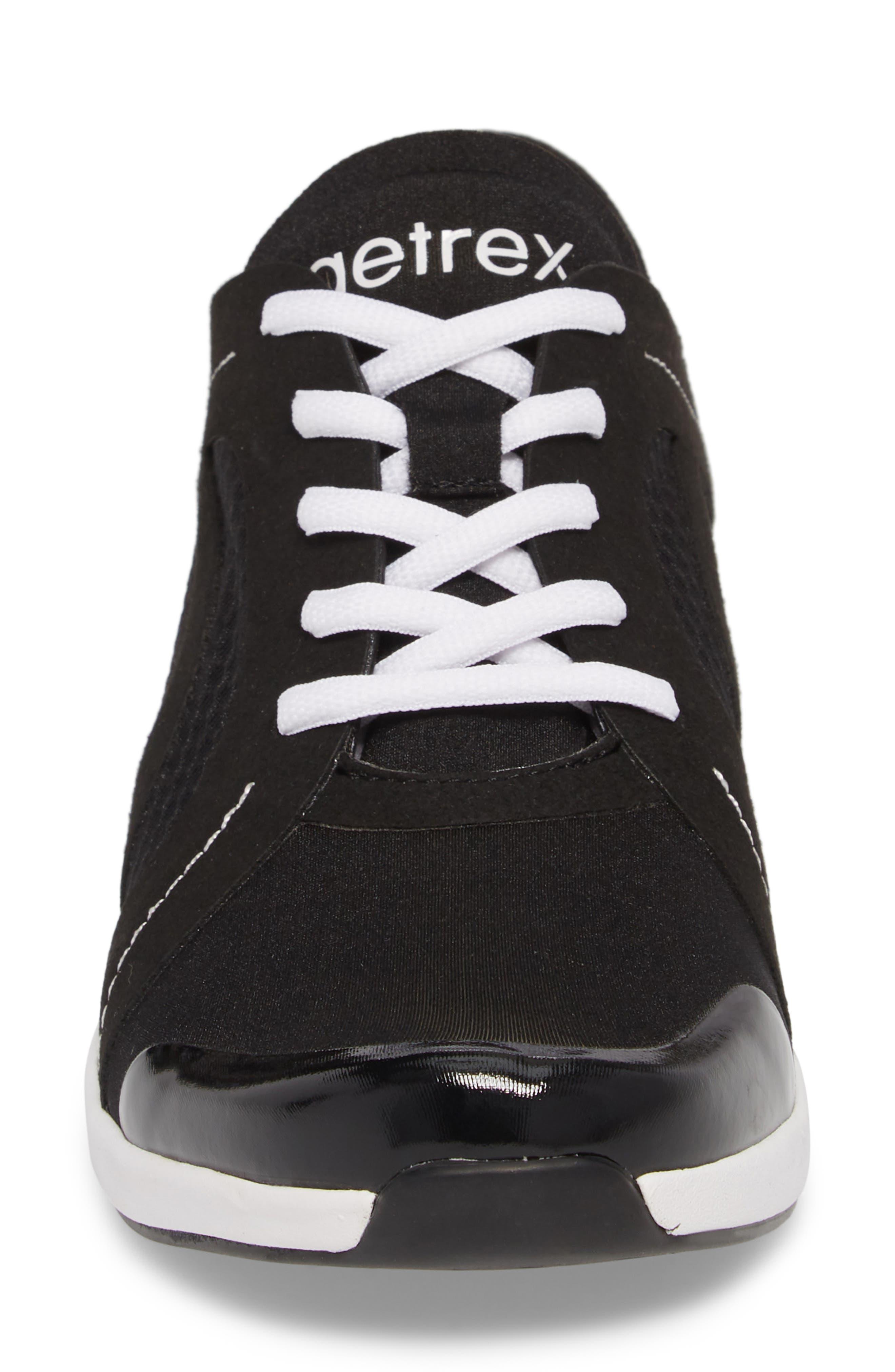 Sloane Sneaker,                             Alternate thumbnail 4, color,                             BLACK FABRIC
