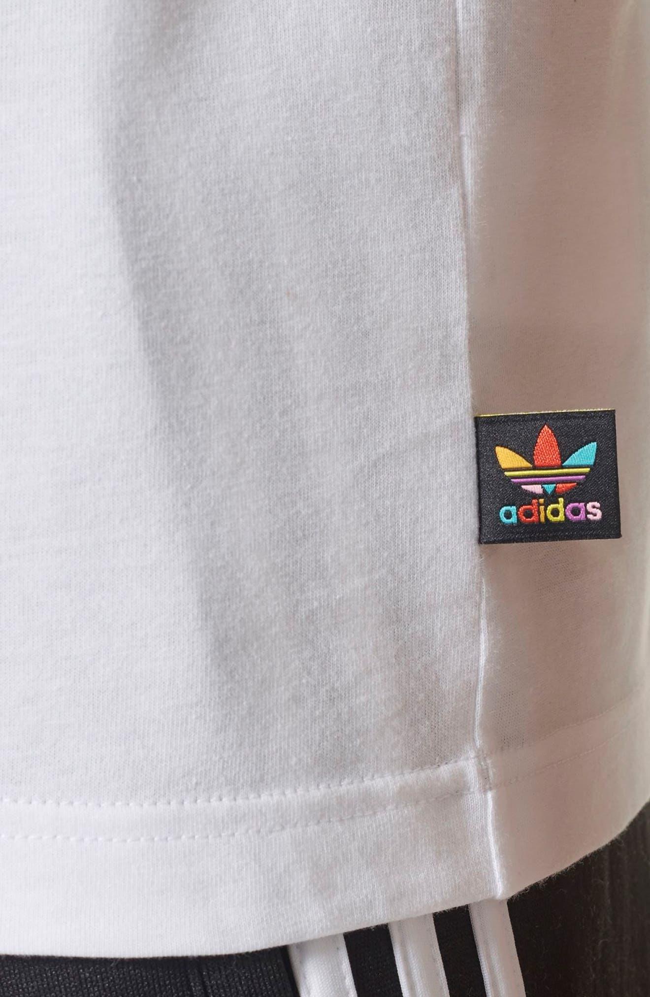 Originals Pharrell Williams Hu Hiking T-Shirt,                             Alternate thumbnail 4, color,                             100