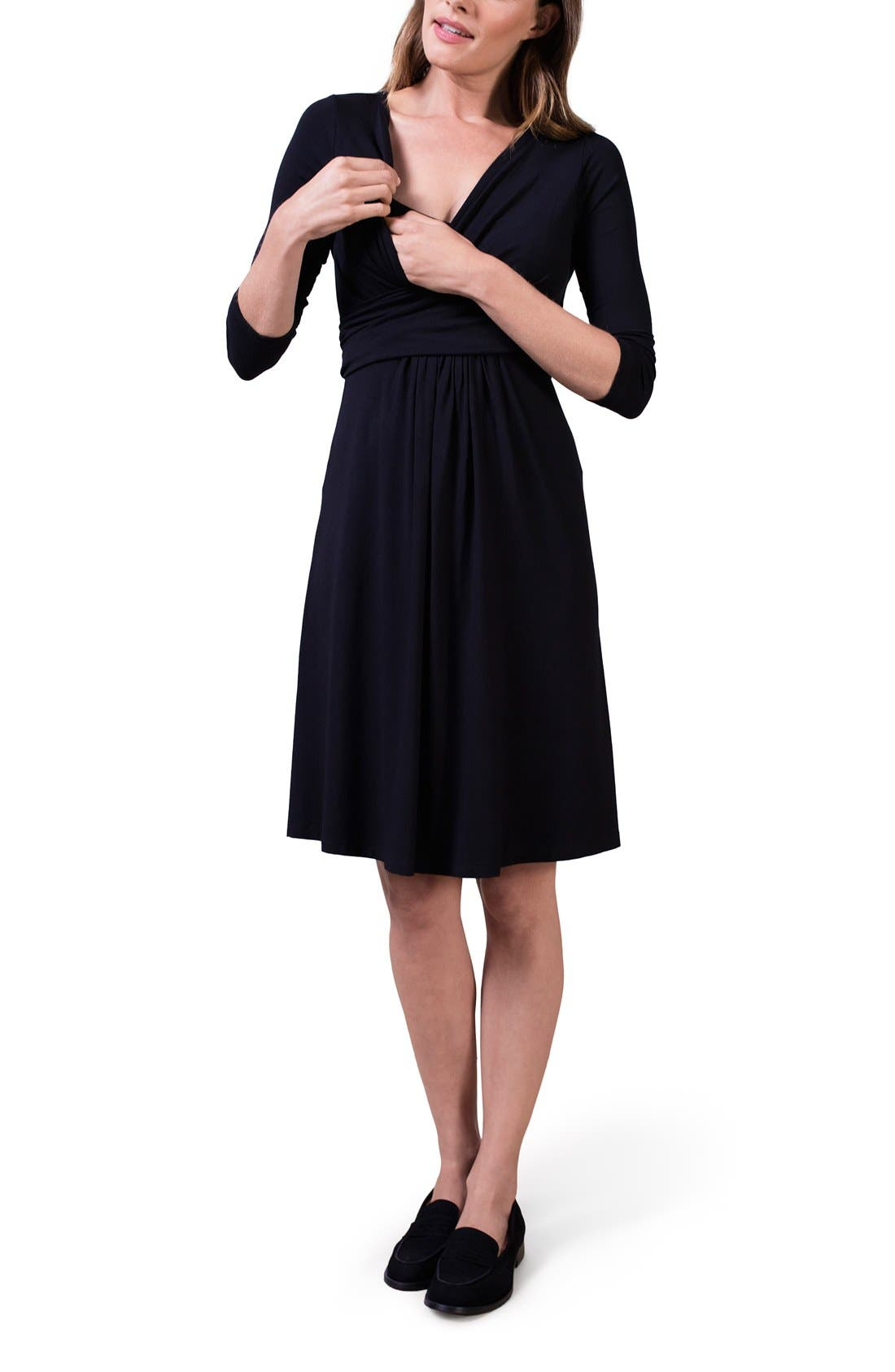 ISABELLA OLIVER,                             'Avebury' Nursing Wrap Maternity Dress,                             Alternate thumbnail 2, color,                             001
