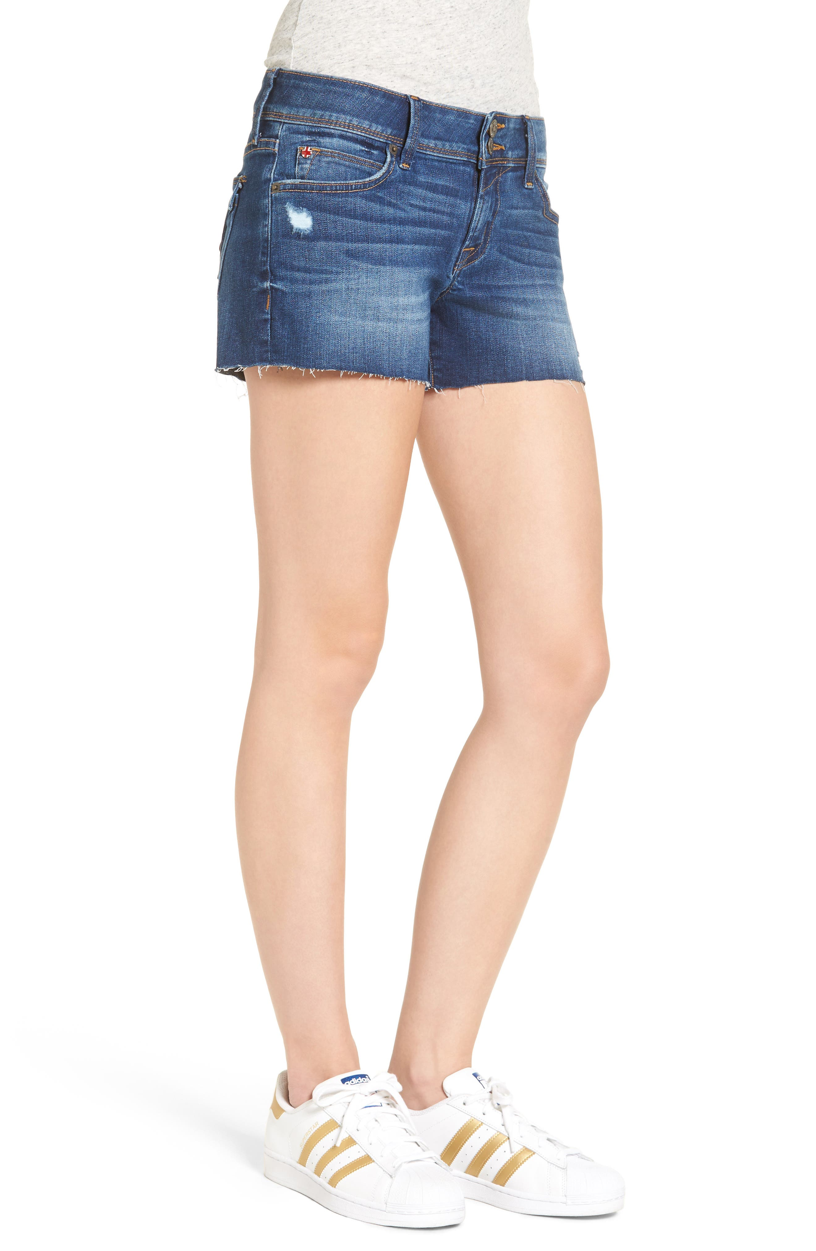Croxley Cutoff Denim Shorts,                             Alternate thumbnail 3, color,                             401
