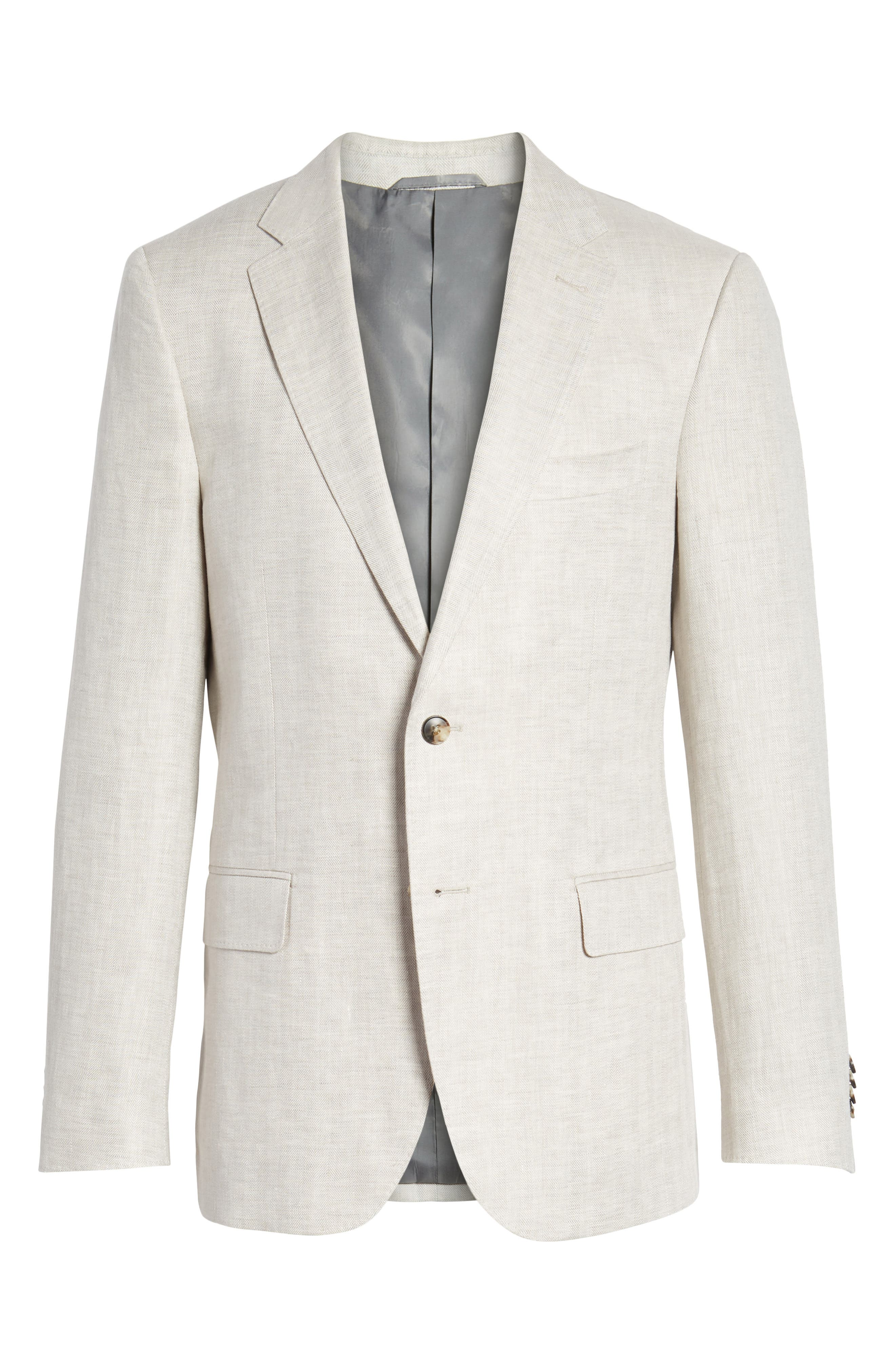 Benson Road Linen Sport Coat,                             Alternate thumbnail 5, color,                             NATURAL