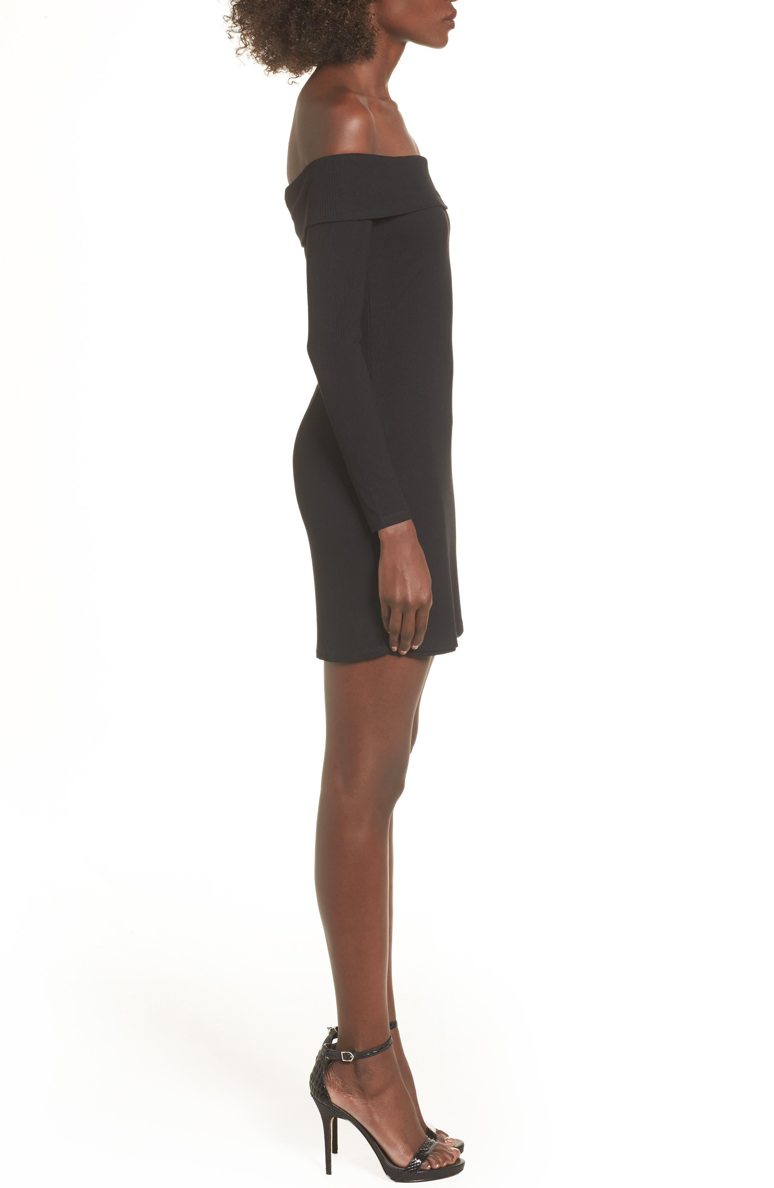Silas Off the Shoulder Body-Con Dress,                             Alternate thumbnail 7, color,