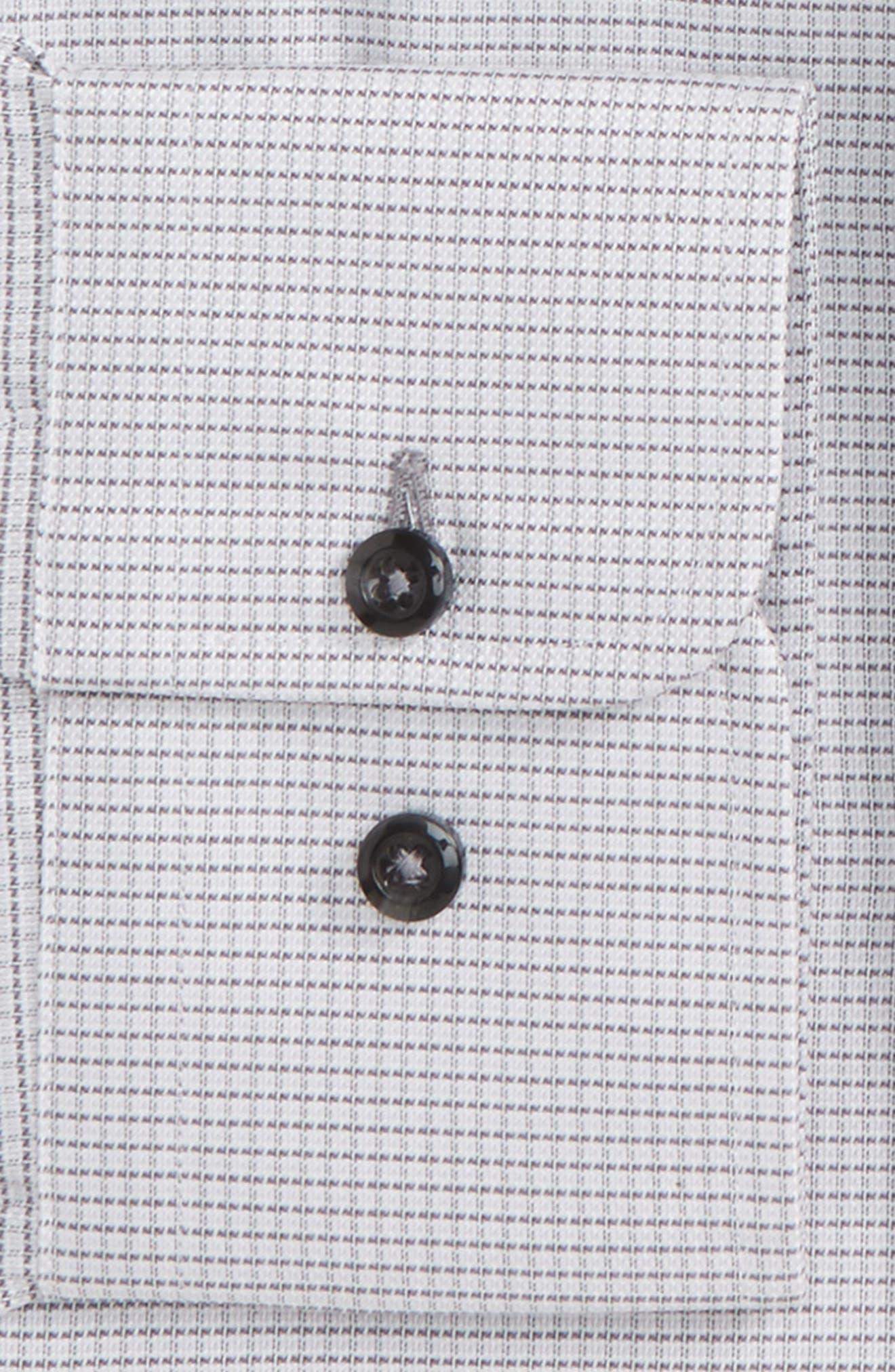 Trim Fit Check Dress Shirt,                             Alternate thumbnail 2, color,                             020