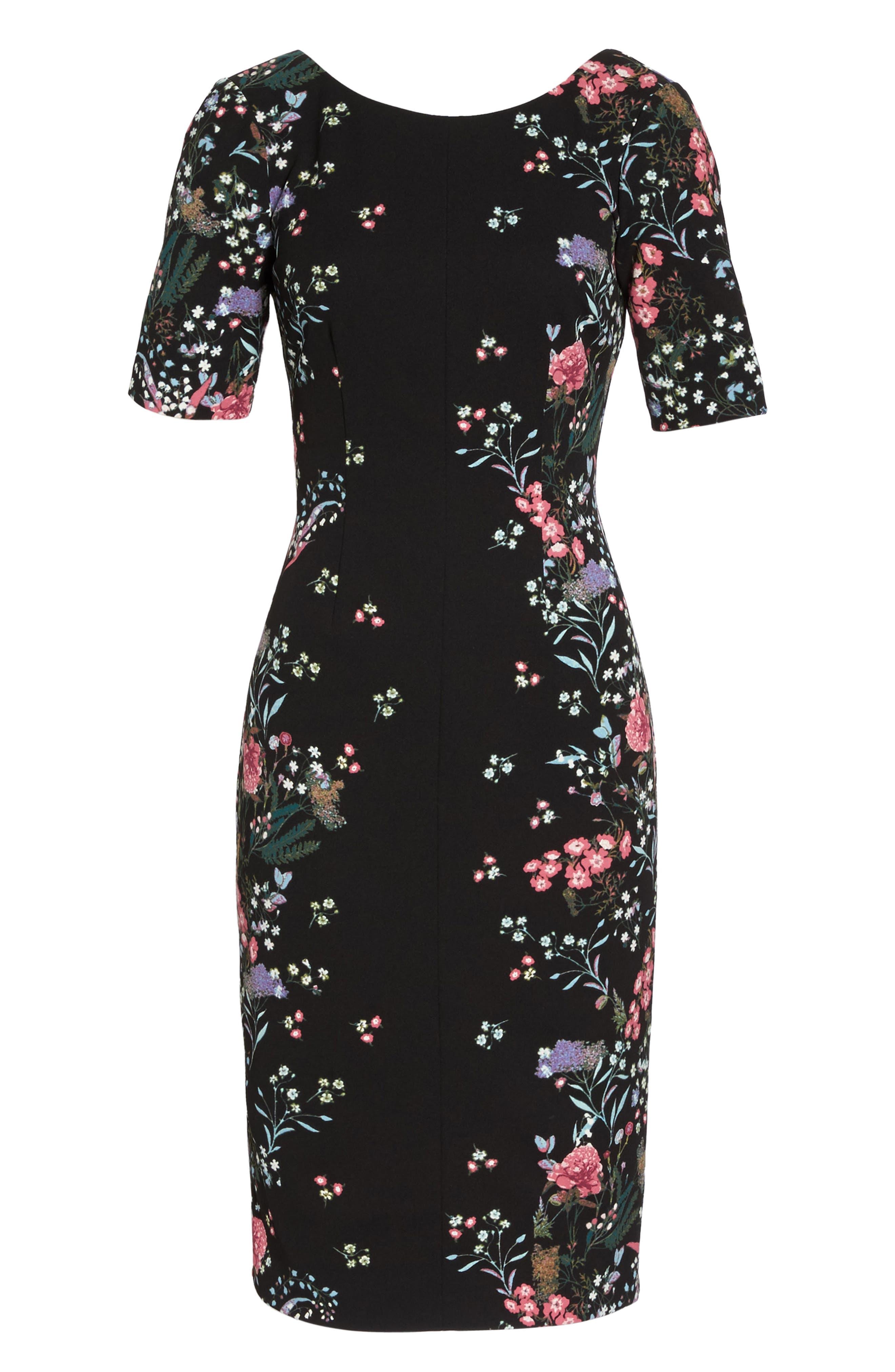 Print Sheath Dress,                             Alternate thumbnail 6, color,                             003