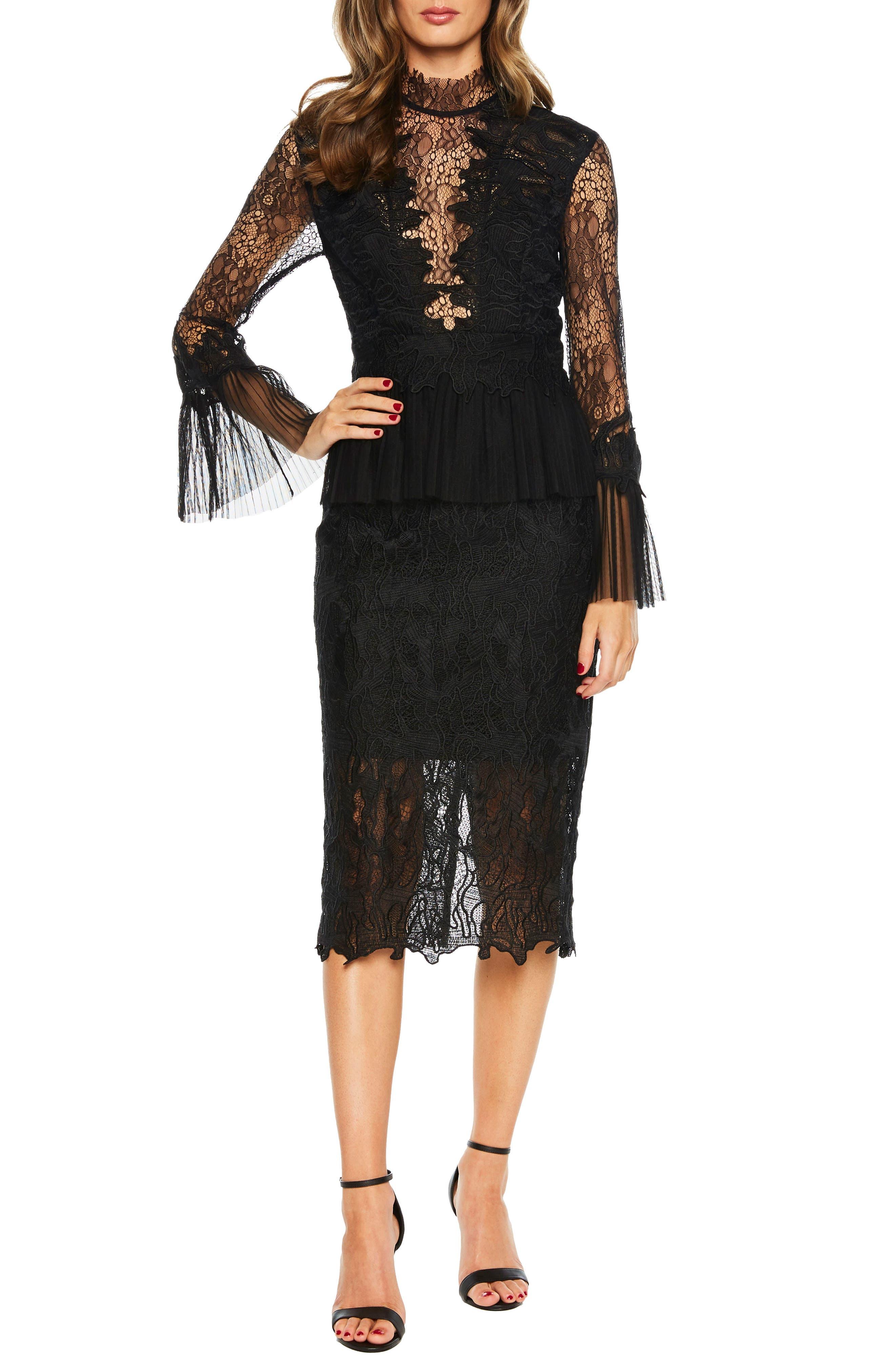 Frankie Lace Dress,                             Main thumbnail 1, color,                             001