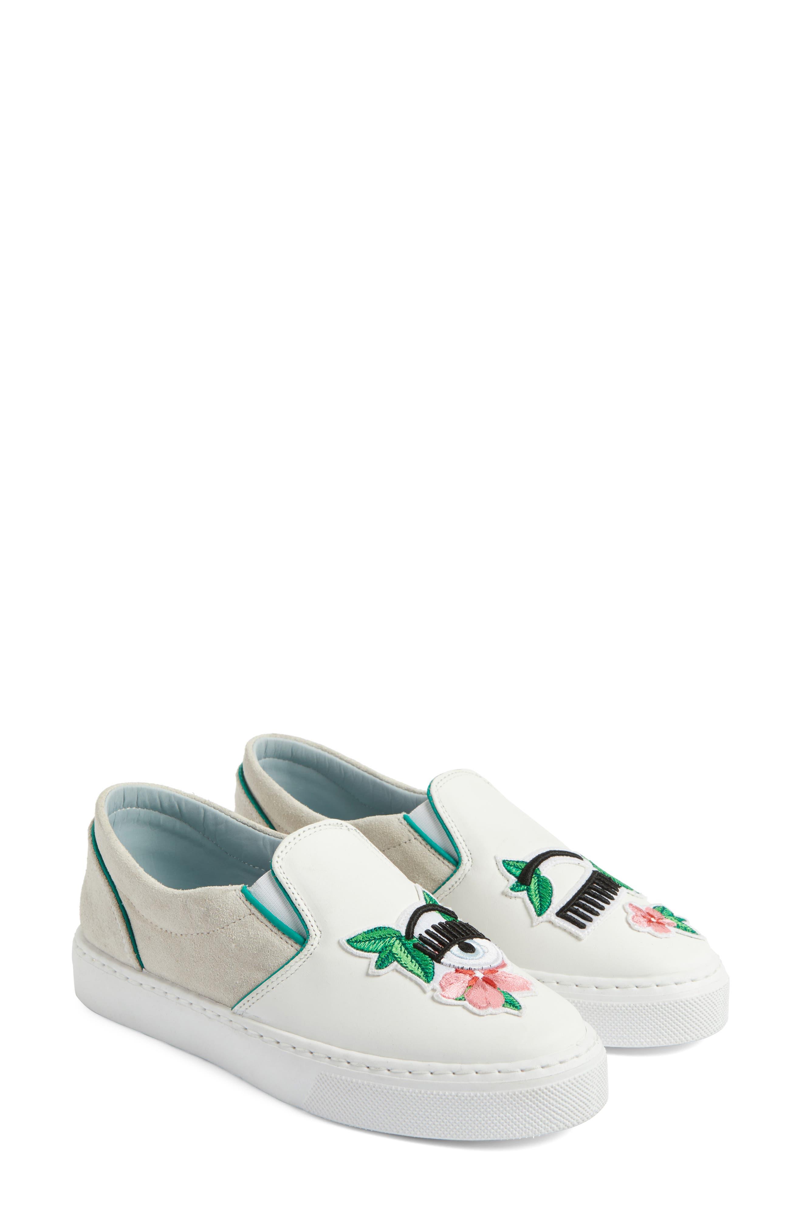 Flower Power Slip-On Sneaker,                             Alternate thumbnail 2, color,                             168
