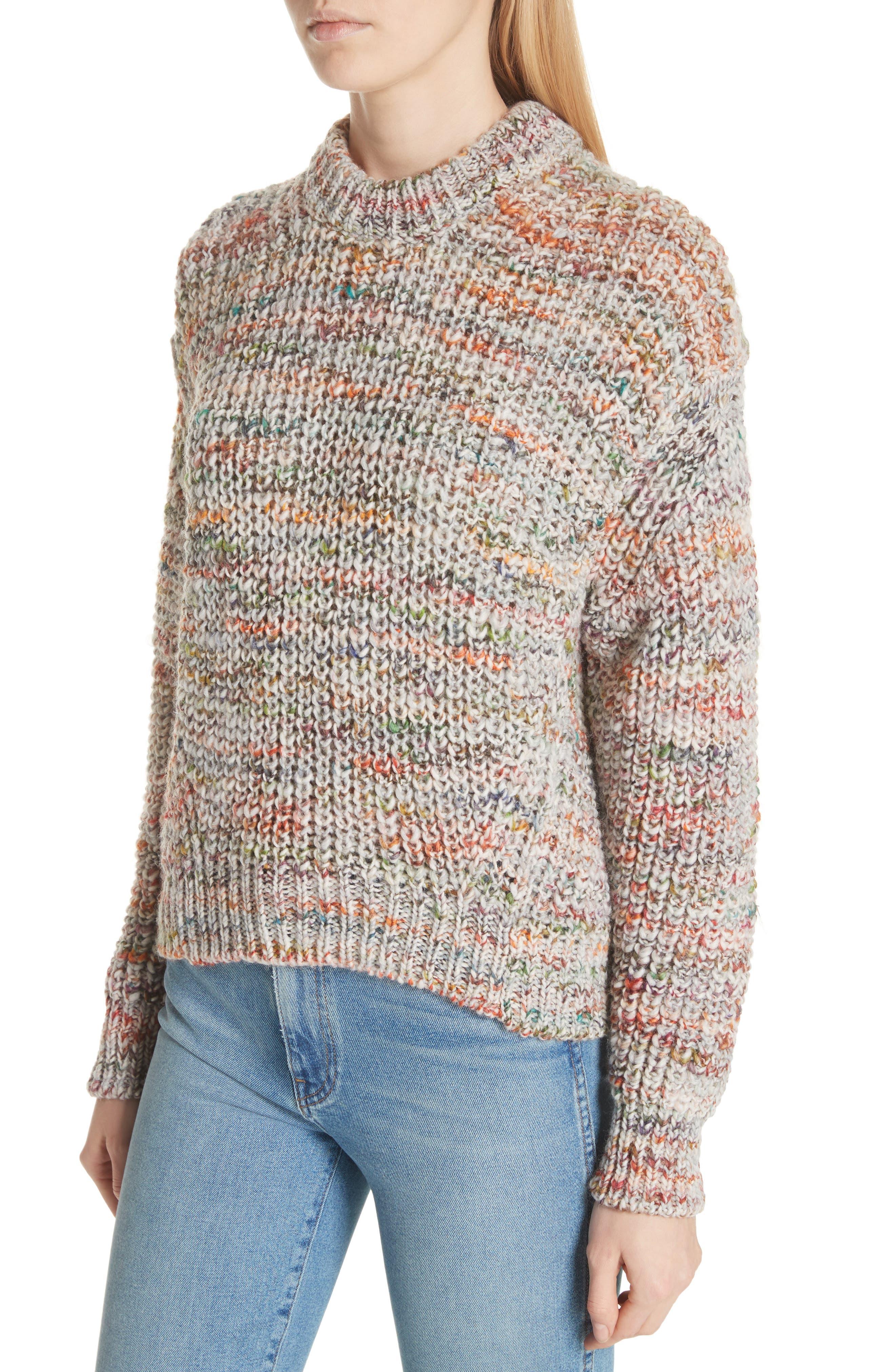Zora Multi Sweater,                             Alternate thumbnail 4, color,                             100