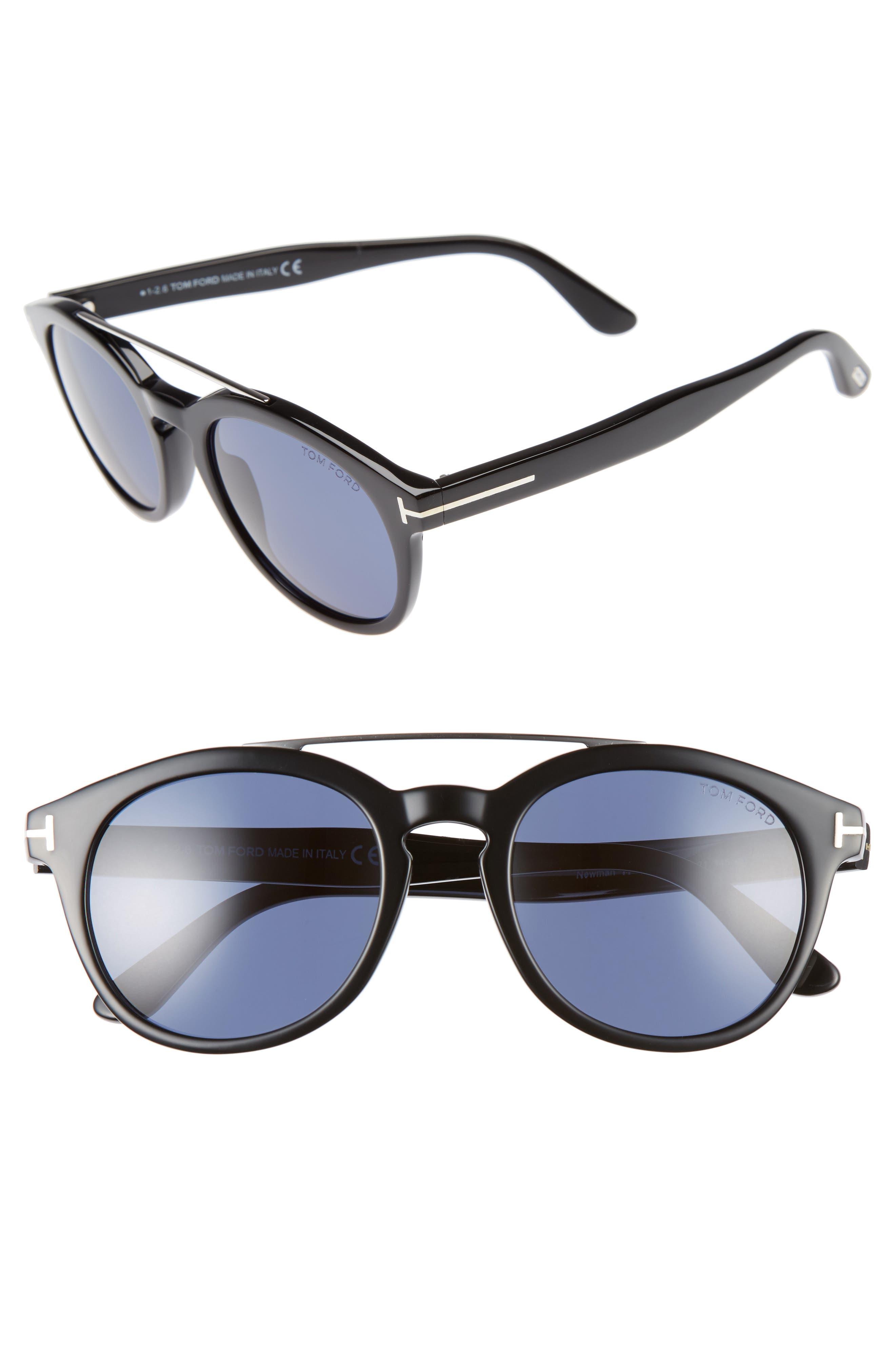 Newman 53mm Polarized Sunglasses,                             Main thumbnail 1, color,                             001
