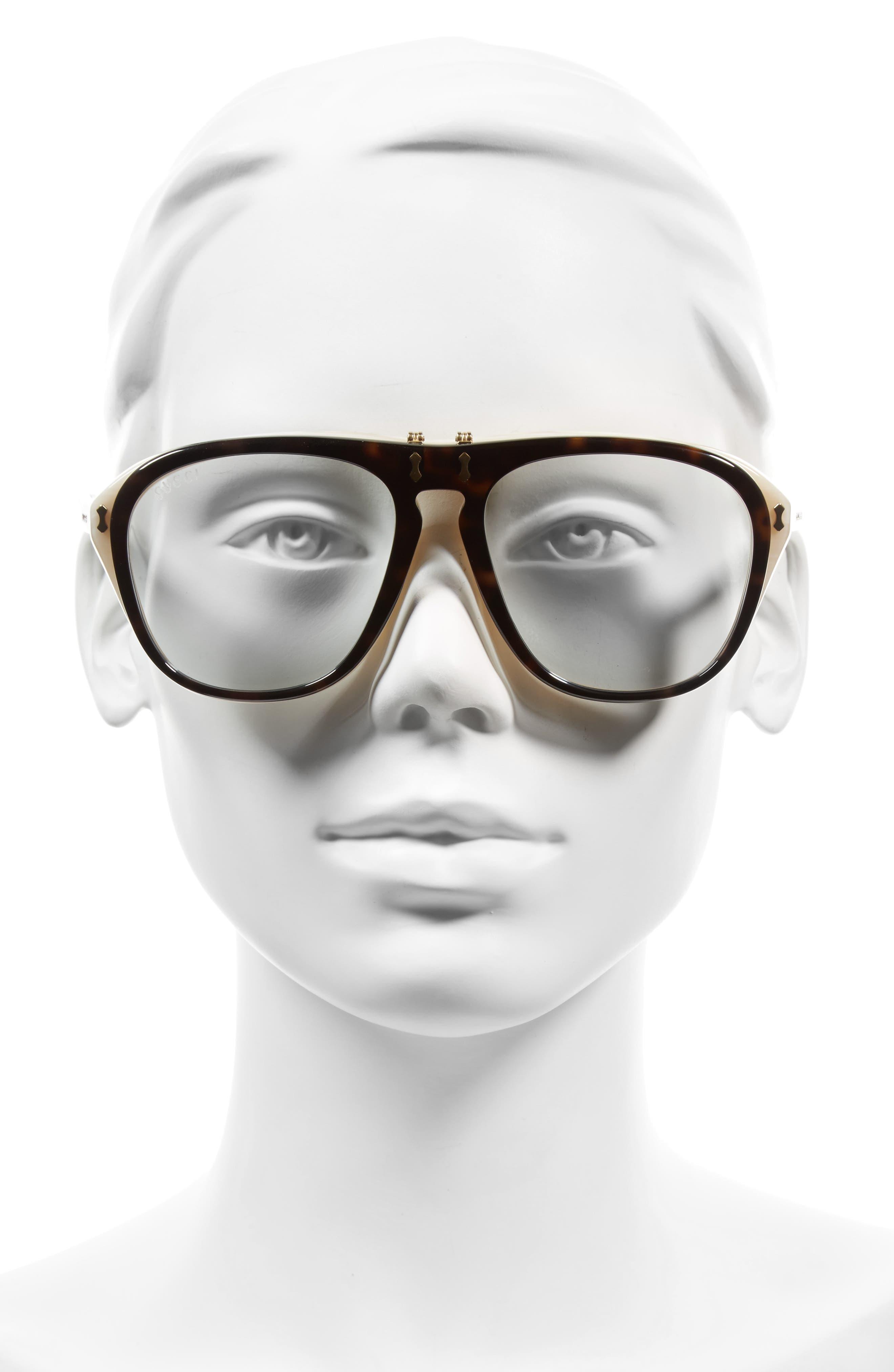 56mm Flip-Up Sunglasses,                             Alternate thumbnail 2, color,                             200