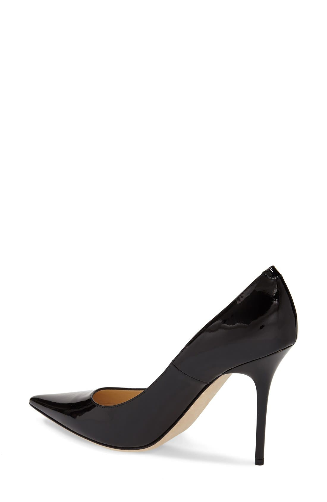 'Abel' Pointy Toe Pump,                             Alternate thumbnail 4, color,                             001
