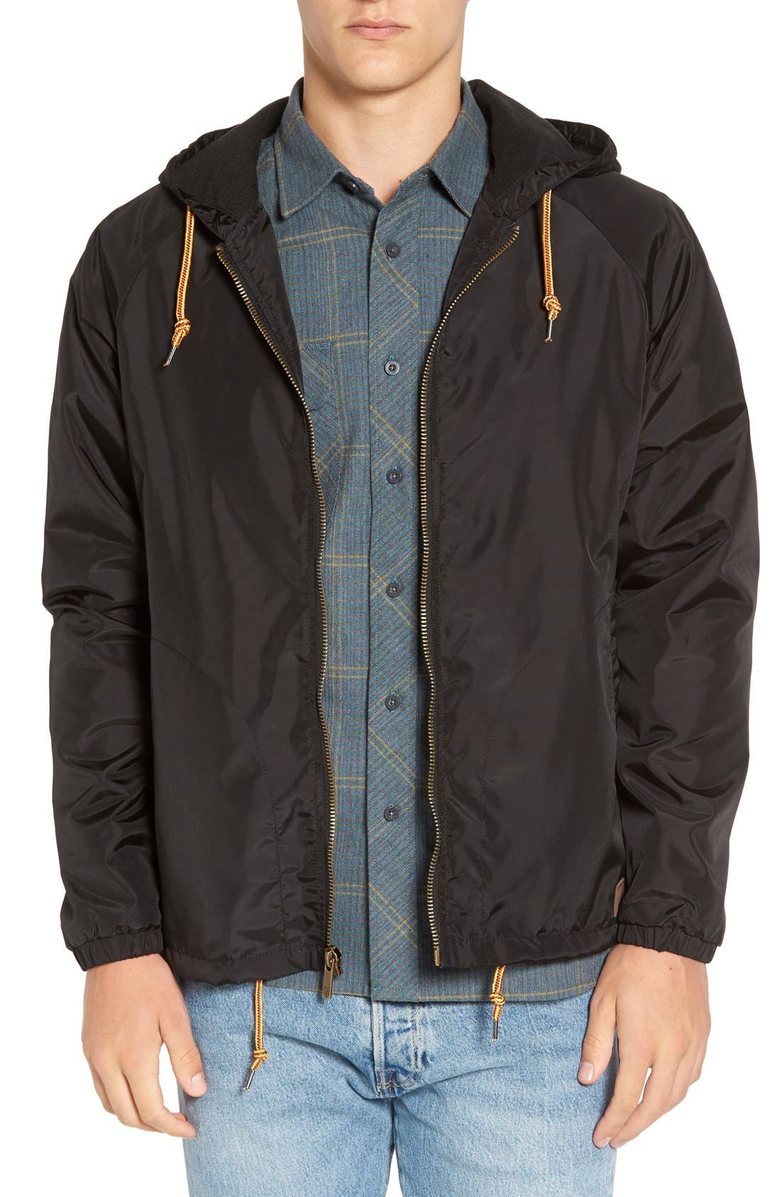 'Claxton' Water Repellent Windbreaker,                             Main thumbnail 1, color,                             001