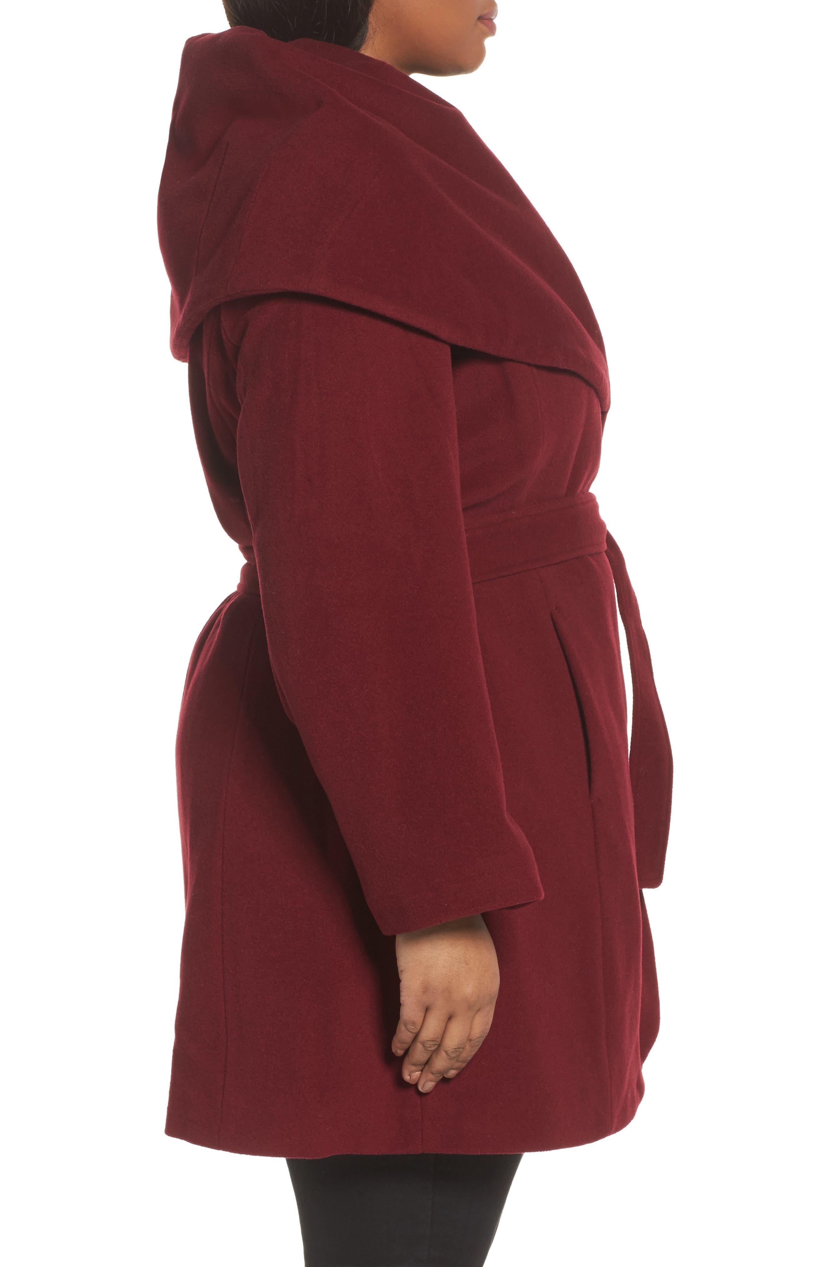 Marla Cutaway Wrap Coat with Oversize Collar,                             Alternate thumbnail 11, color,