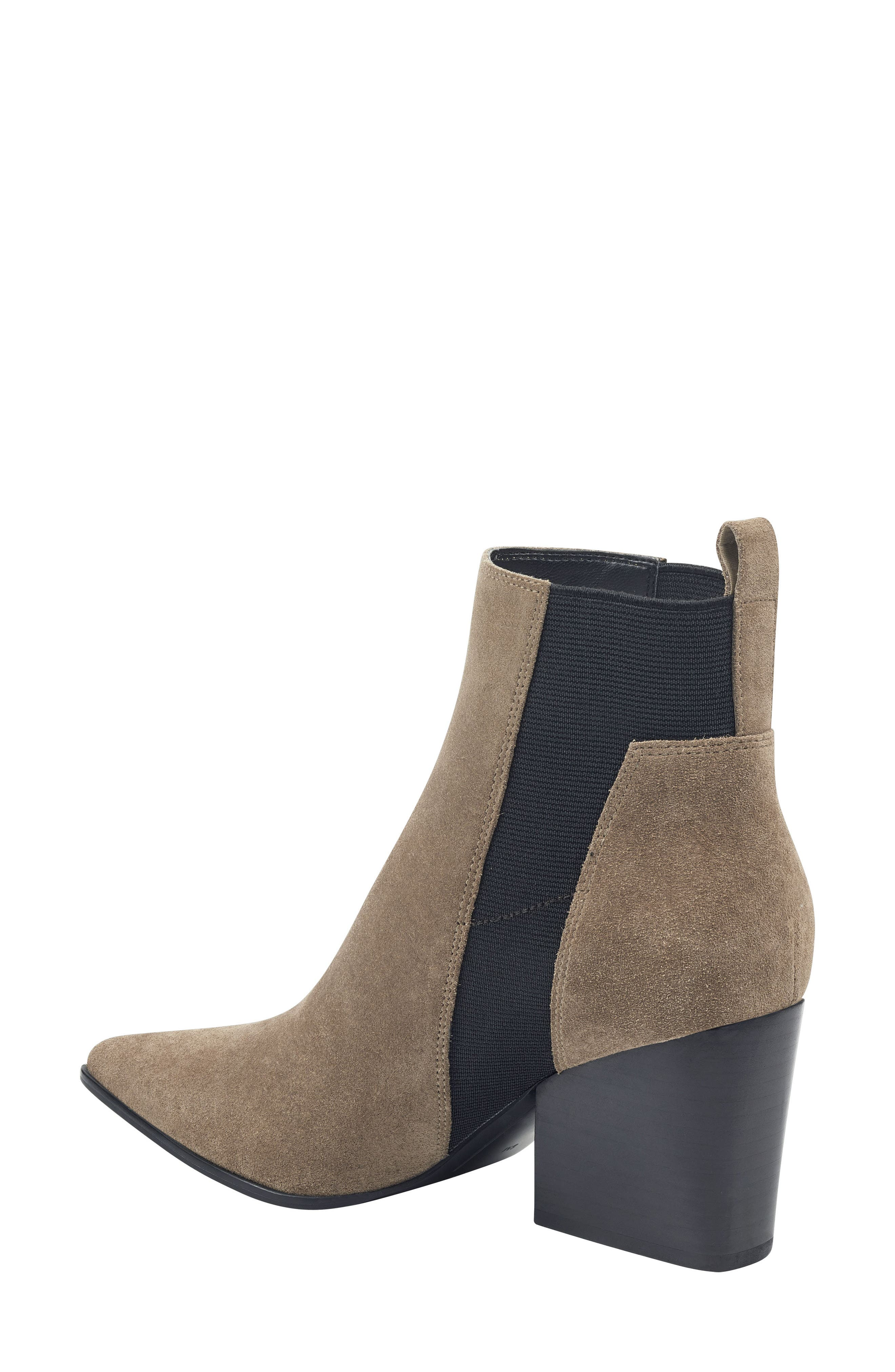 Pointy Toe Chelsea Bootie,                             Alternate thumbnail 2, color,                             TAUPE