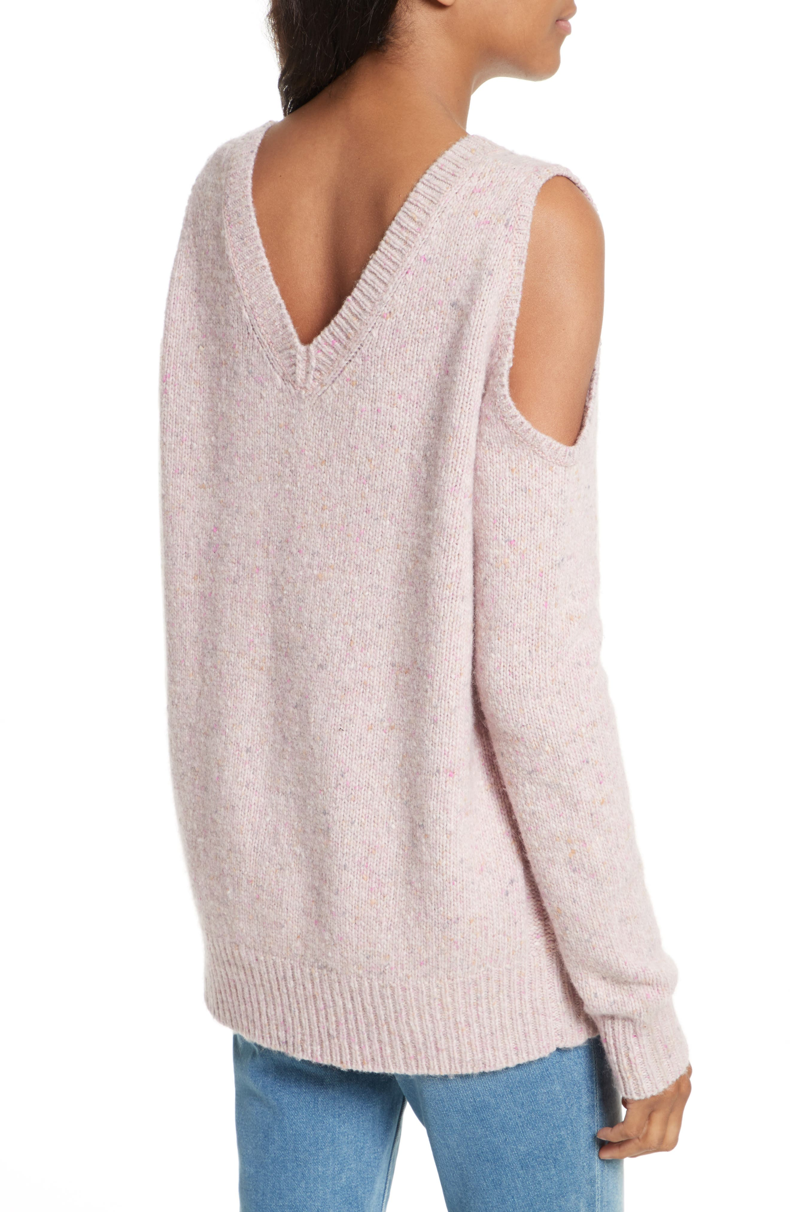 Page Cold Shoulder Sweater,                             Alternate thumbnail 13, color,