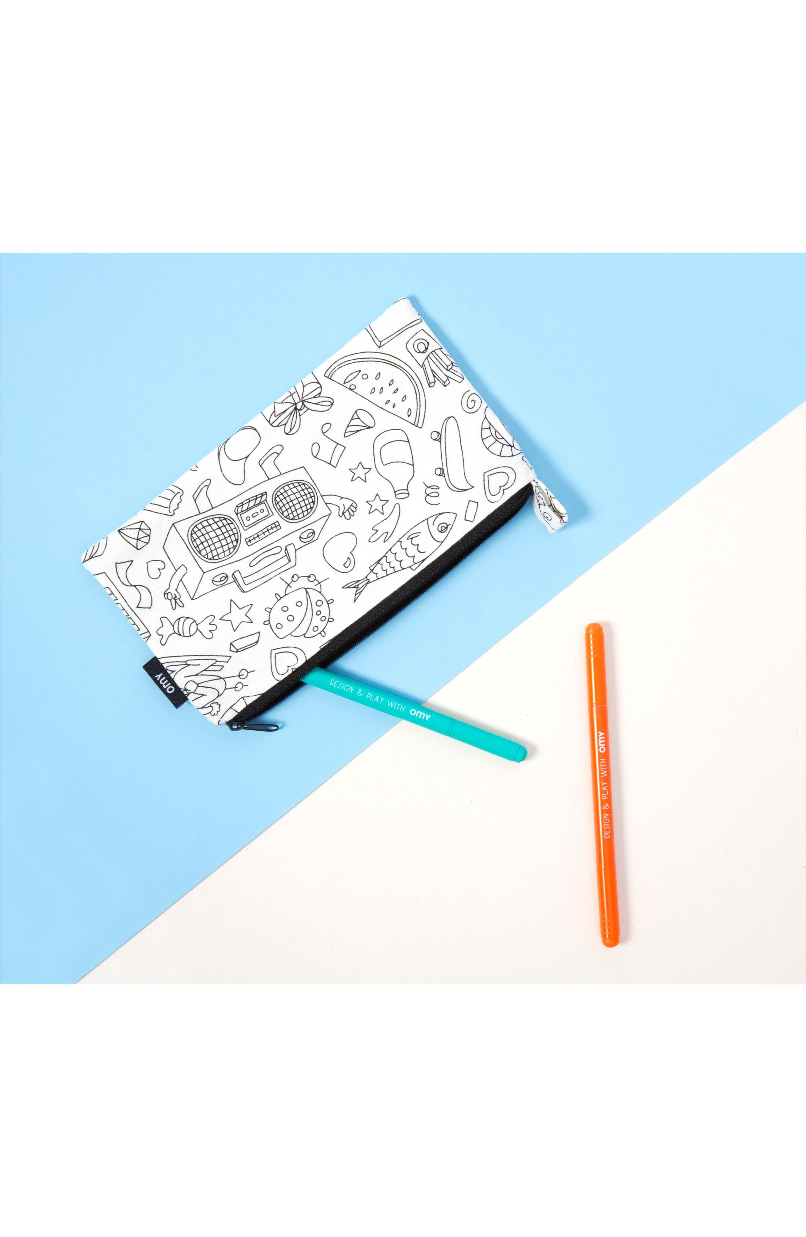 Colorable Cotton Zip Pouch,                             Alternate thumbnail 2, color,                             100