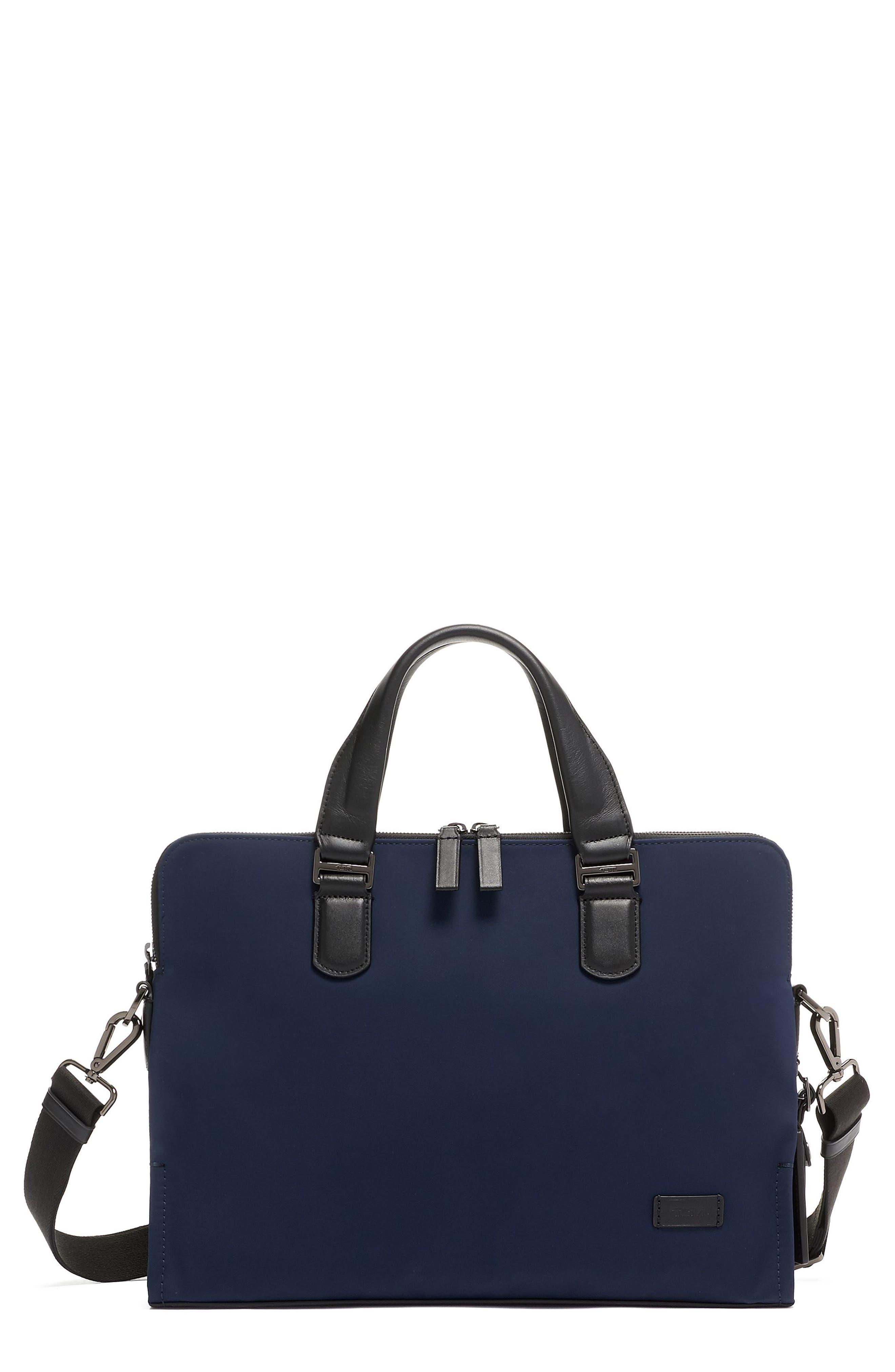 Harrison Seneca Slim Briefcase, Main, color, NAVY