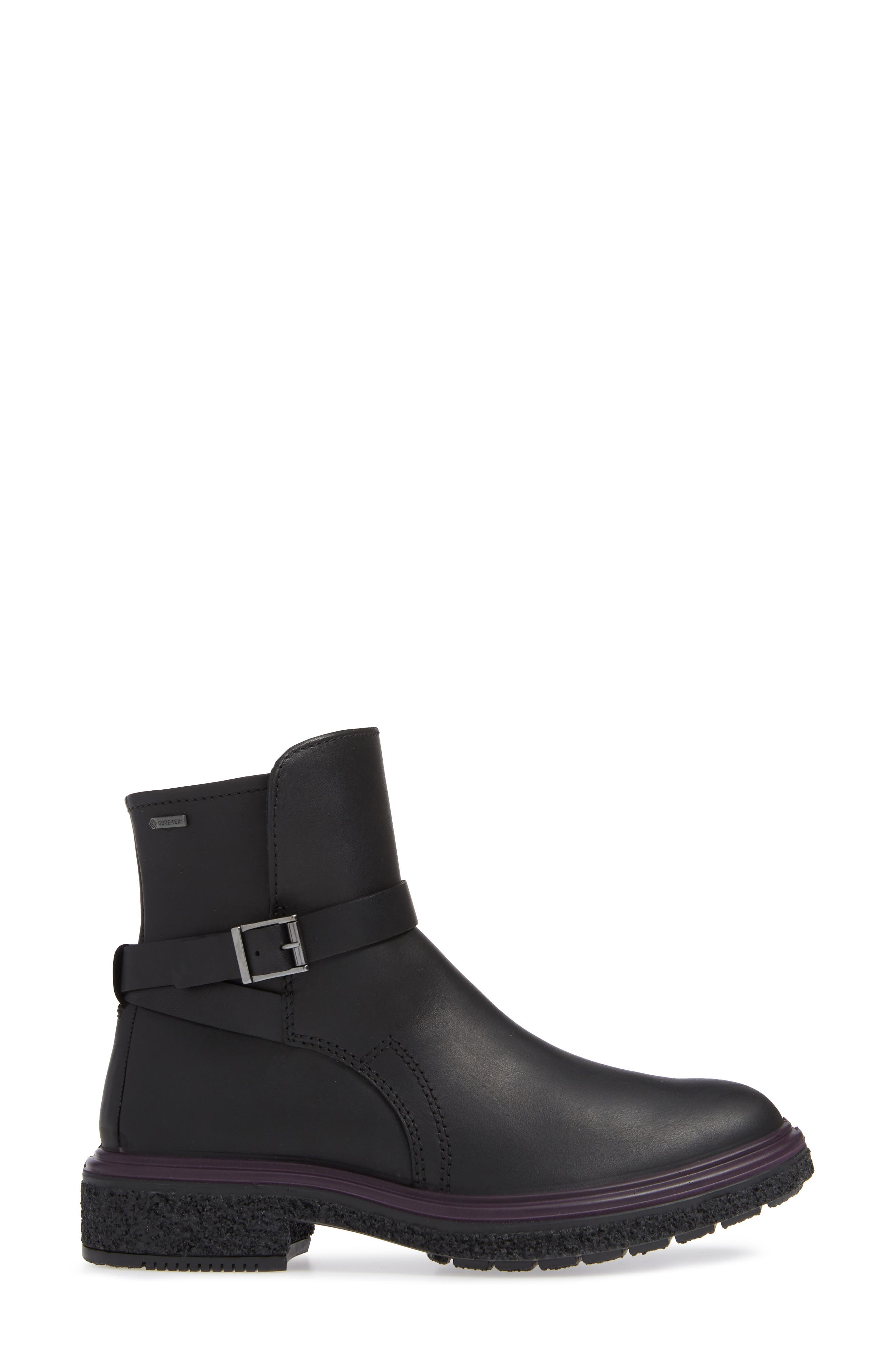 Crepetray GTX Waterproof Bootie,                             Alternate thumbnail 3, color,                             BLACK LEATHER