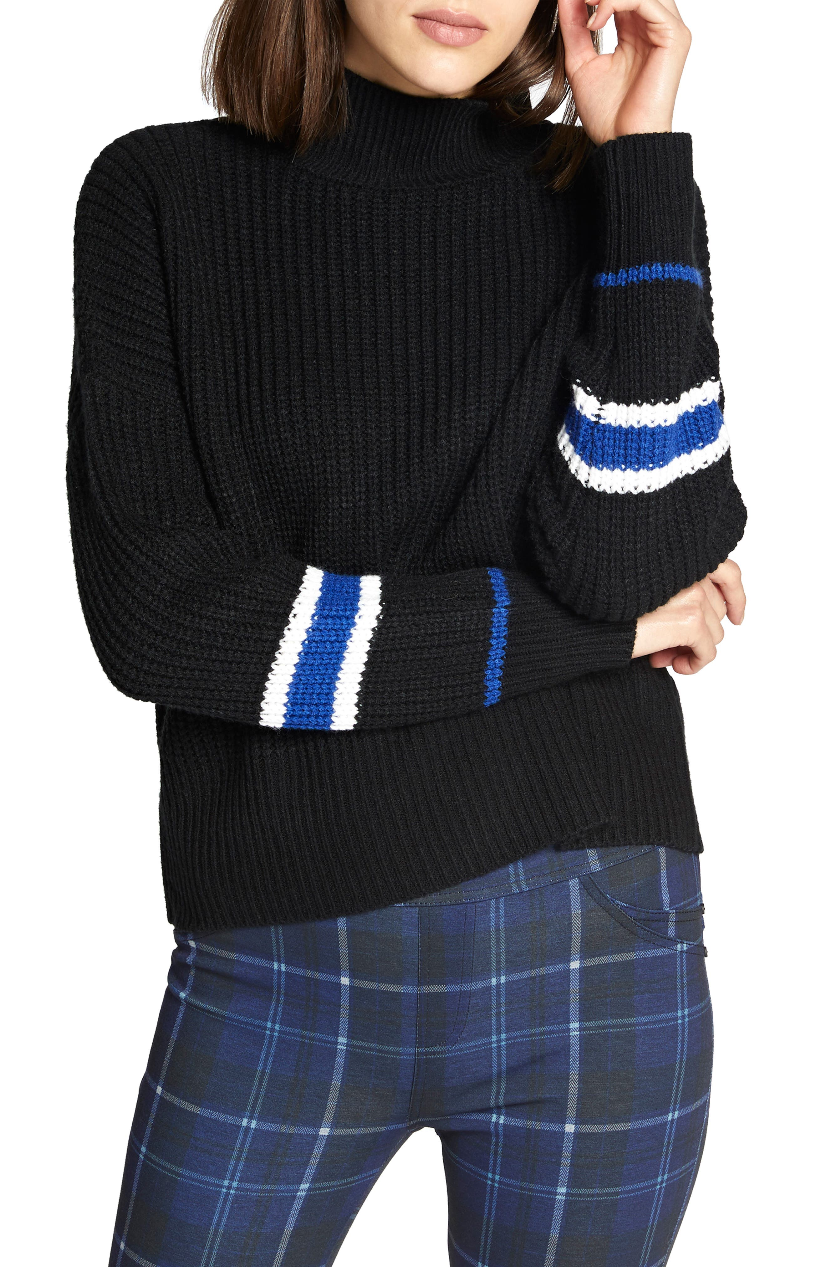 Speedway Sweater,                             Main thumbnail 1, color,                             BLACK