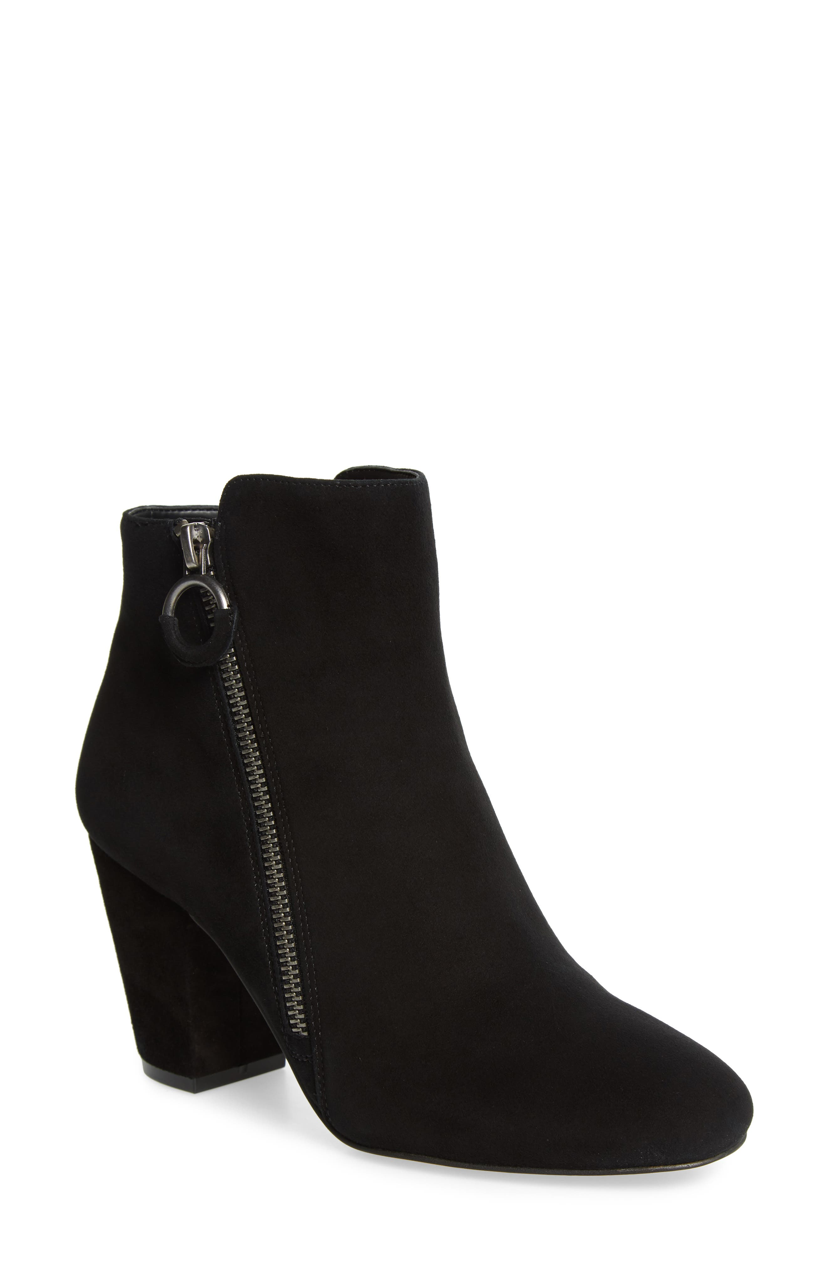 1.STATE,                             Preete Bootie,                             Main thumbnail 1, color,                             BLACK SUEDE