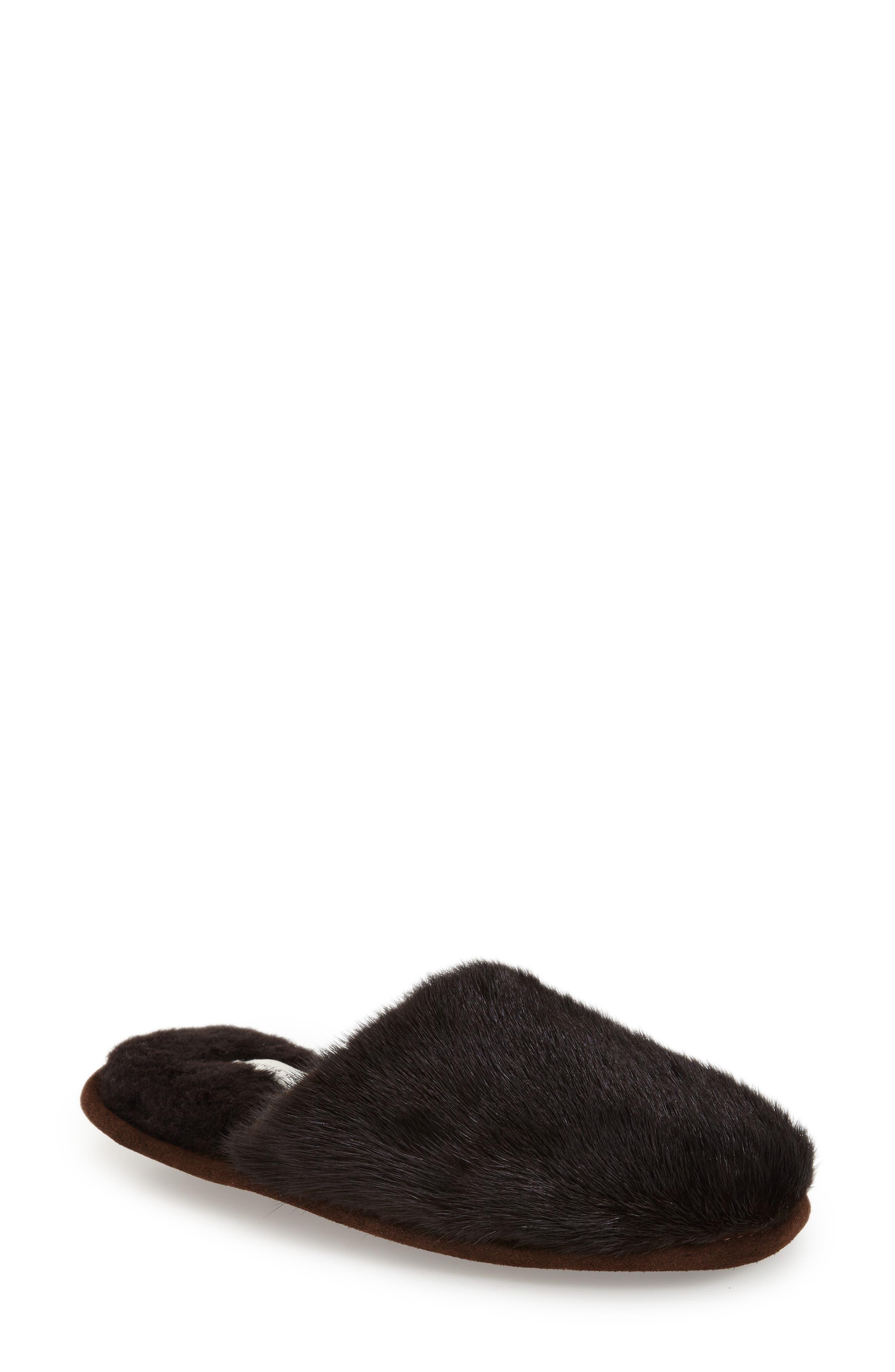 'Whistler' Genuine Mink Fur Slipper,                             Alternate thumbnail 5, color,                             215