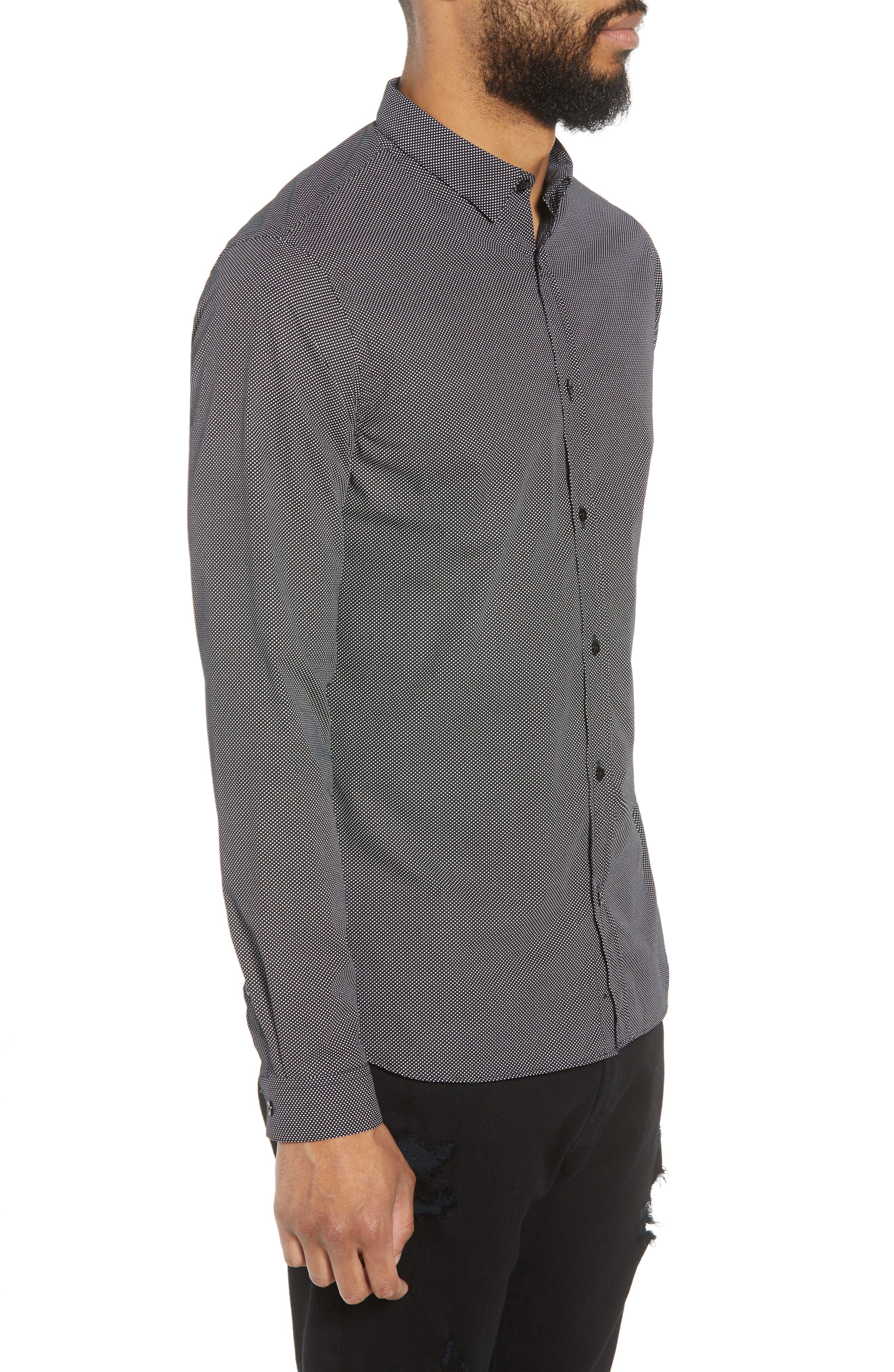 Slim Fit Print Sport Shirt,                             Alternate thumbnail 3, color,                             415