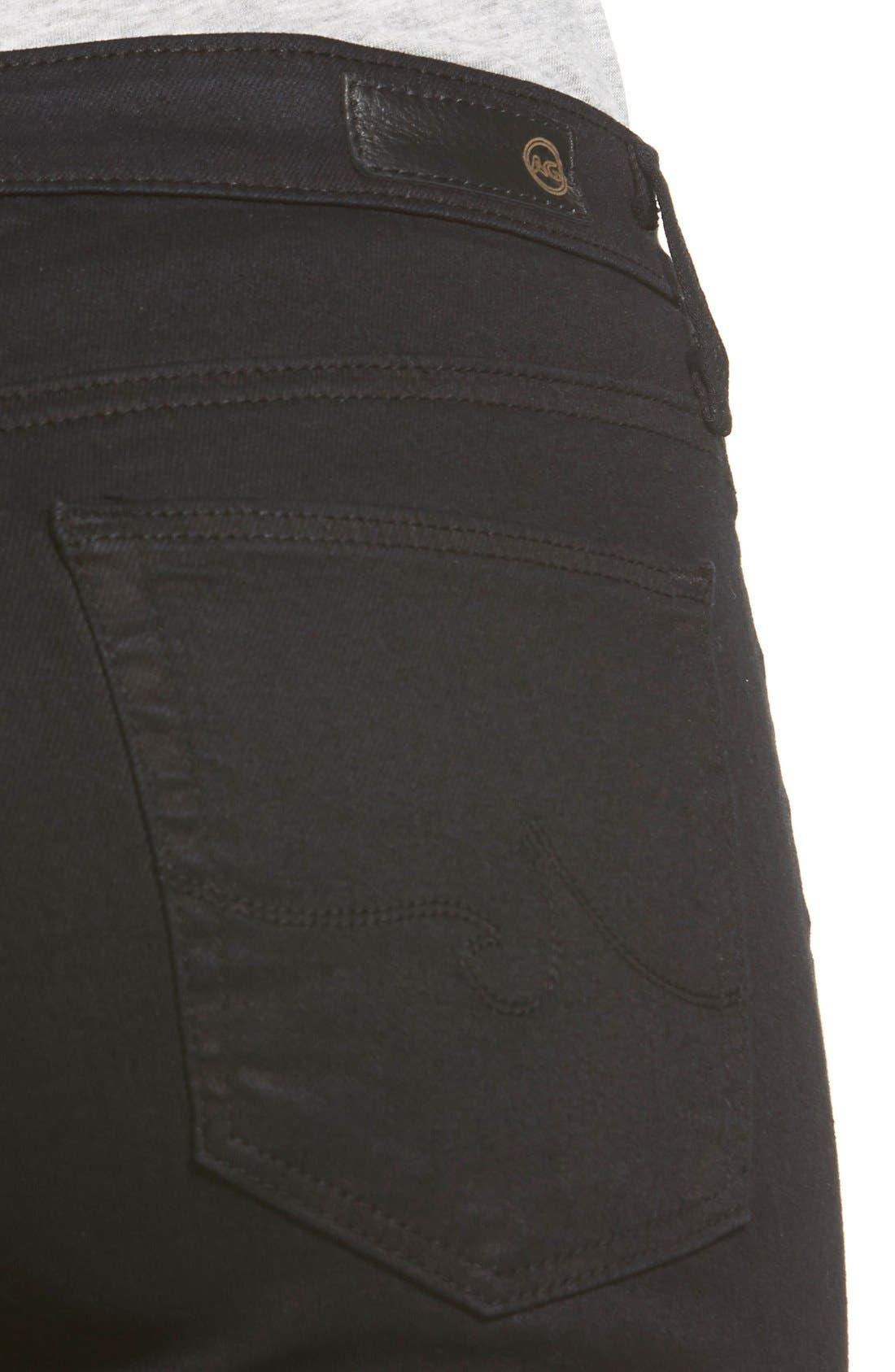 Harper Slim Straight Leg Jeans,                             Alternate thumbnail 7, color,                             OVERDYED BLACK