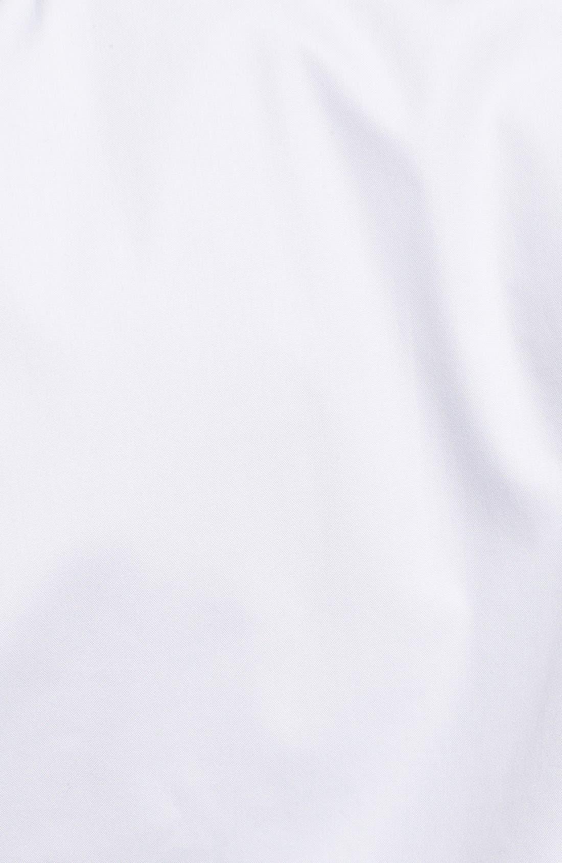 Smartcare<sup>™</sup> Classic Fit Pinpoint Dress Shirt,                             Alternate thumbnail 5, color,                             WHITE