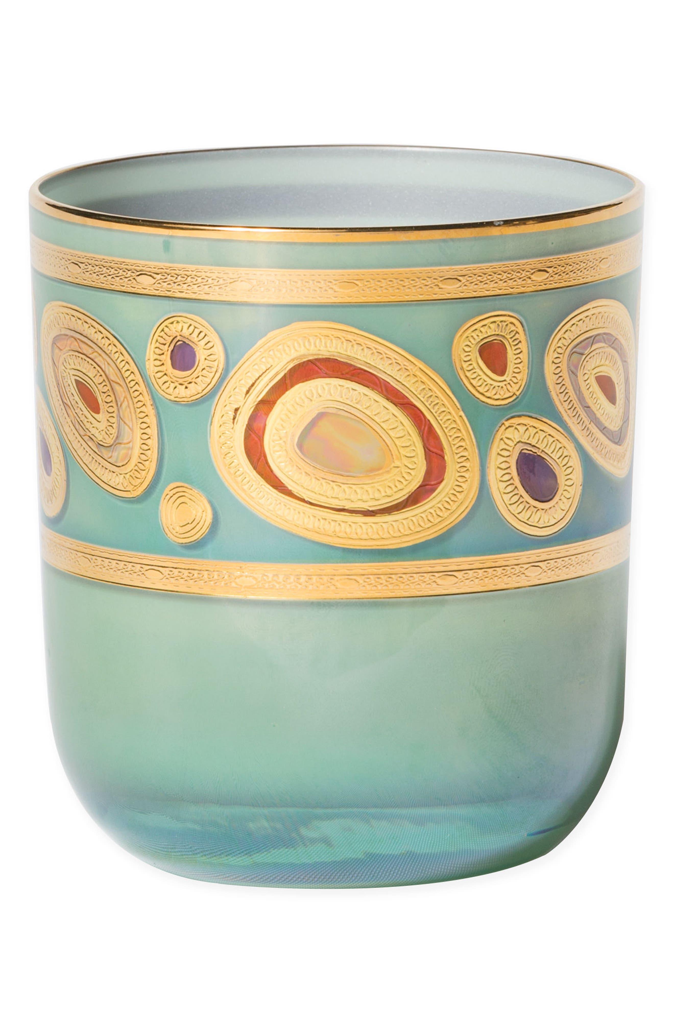 Regalia Double Old-Fashioned Glass,                         Main,                         color, AQUA