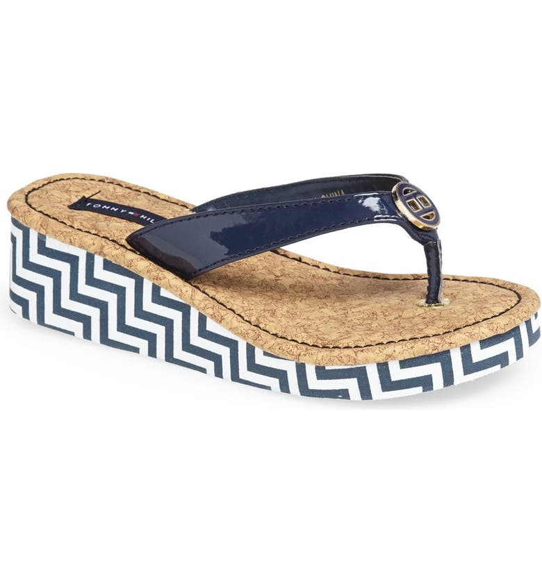 25c2ed2bfef6 Tommy Hilfiger  Joy  Chevron Flip Flop (Little Kid   Big Kid ...