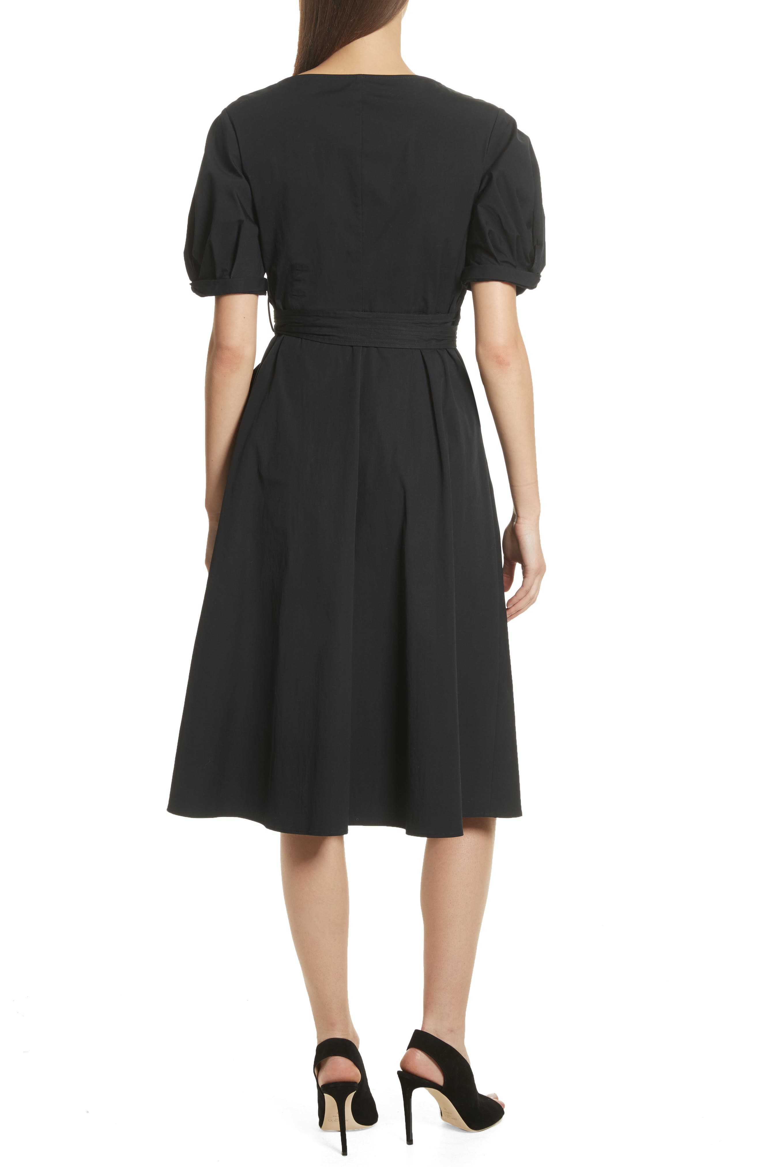 Meghan Wrap Dress,                             Alternate thumbnail 2, color,                             001