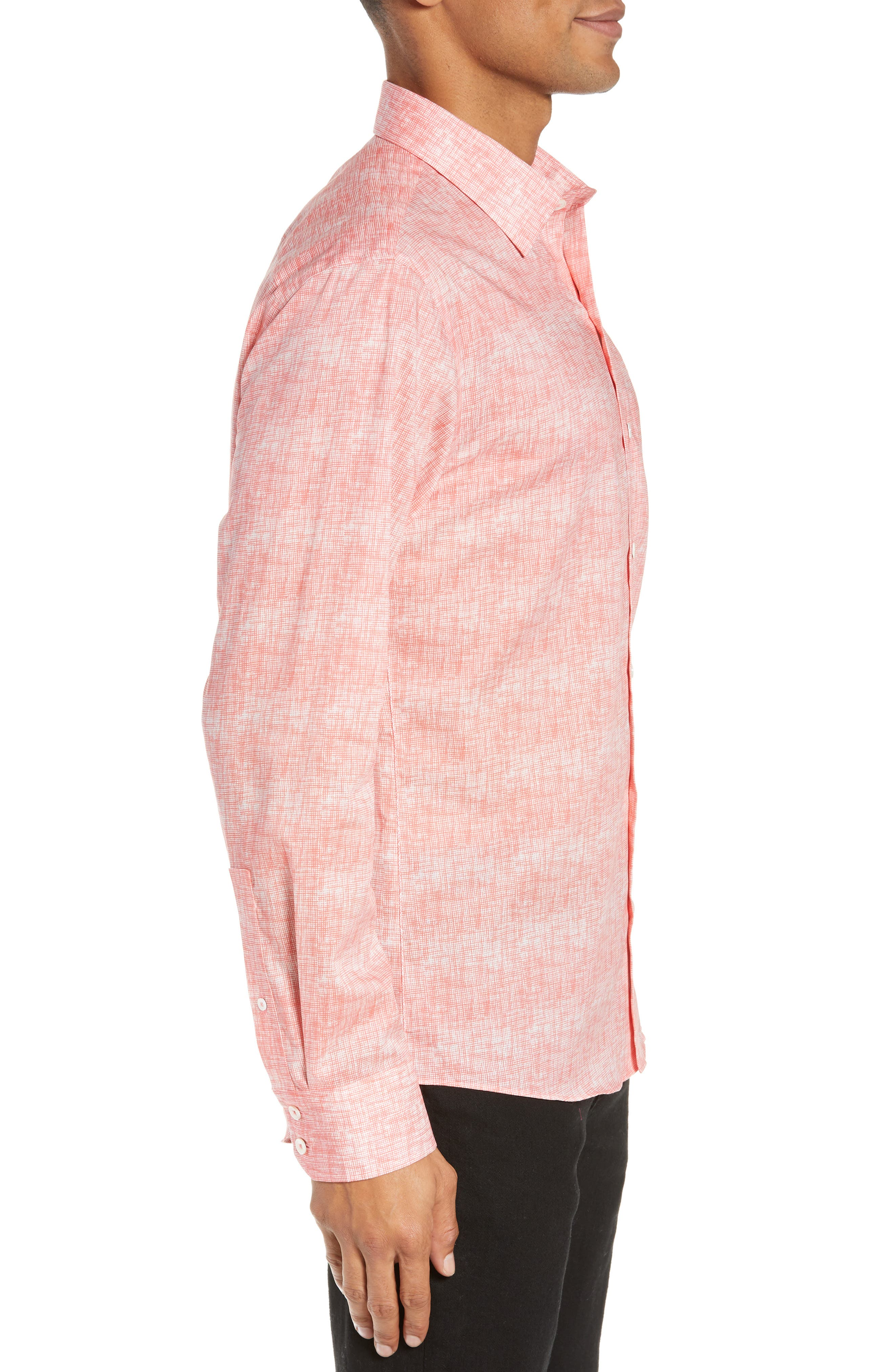Griffin Regular Fit Sport Shirt,                             Alternate thumbnail 4, color,                             PINK