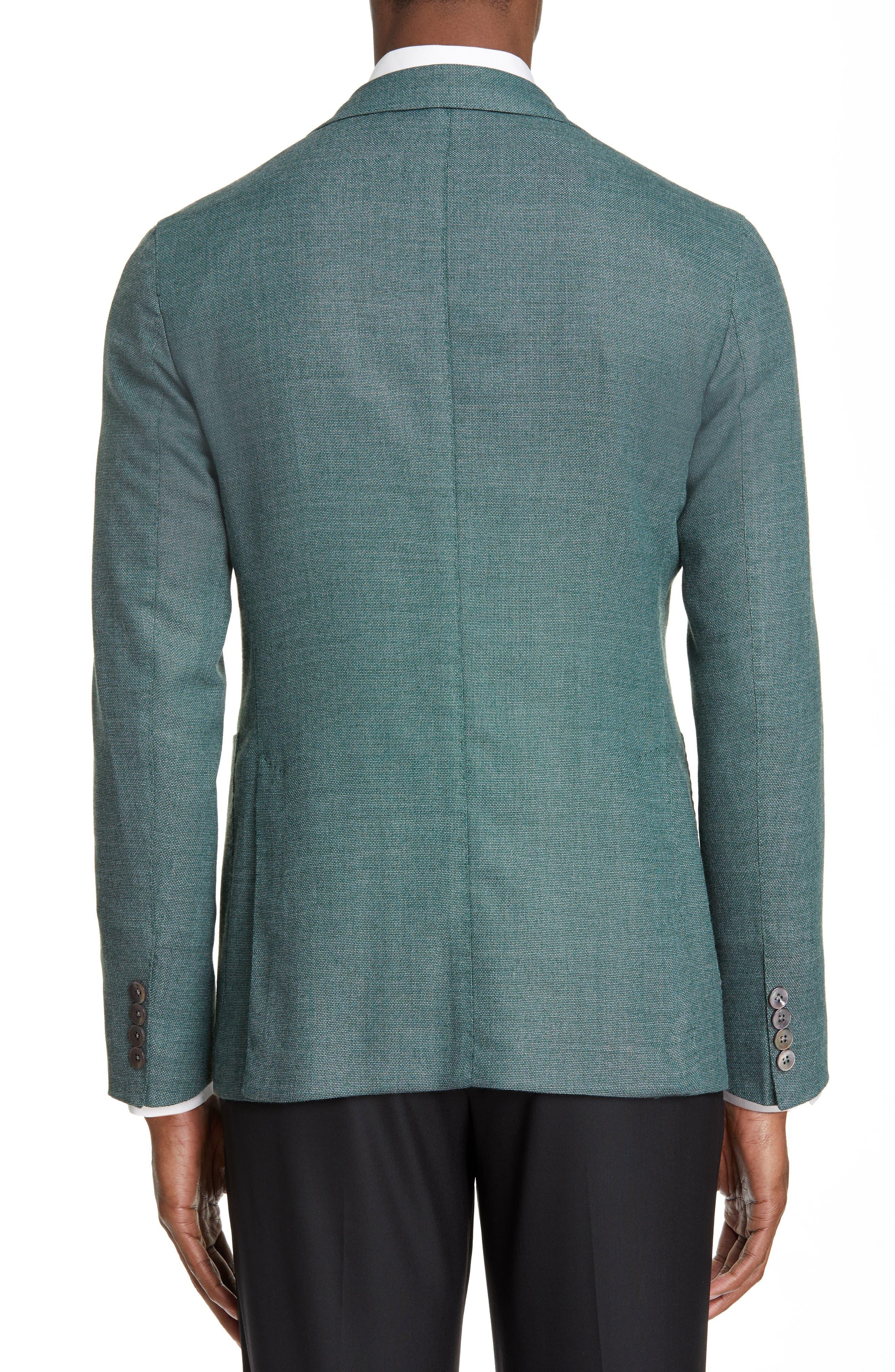 BOGLIOLI,                             Slim Fit Hopsack Wool Blend Sport Coat,                             Alternate thumbnail 2, color,                             FORREST GREEN