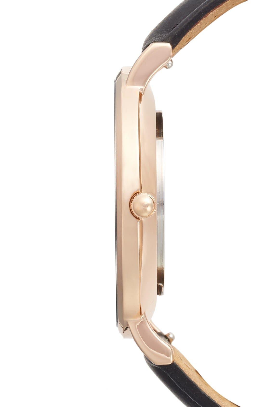 La Bohème Leather Strap Watch, 38mm,                             Alternate thumbnail 2, color,                             001