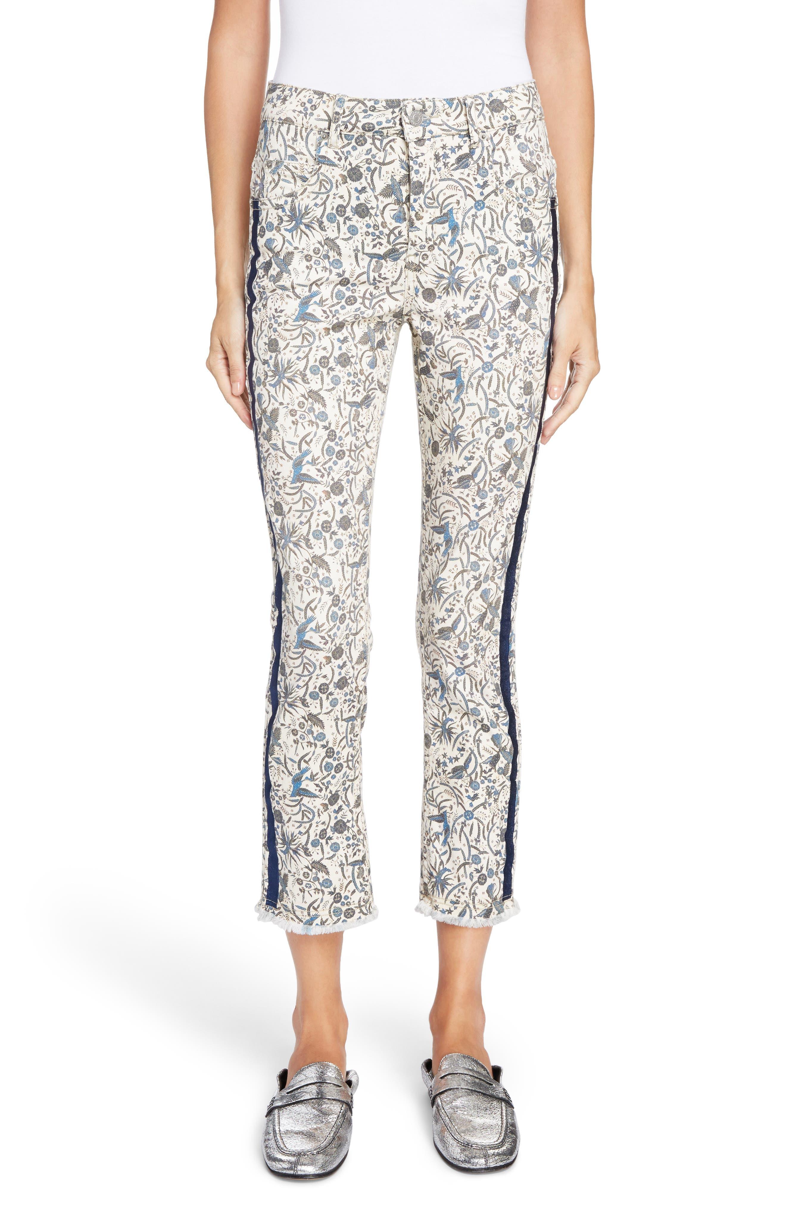 Ugo Print Crop Jeans,                         Main,                         color, 400