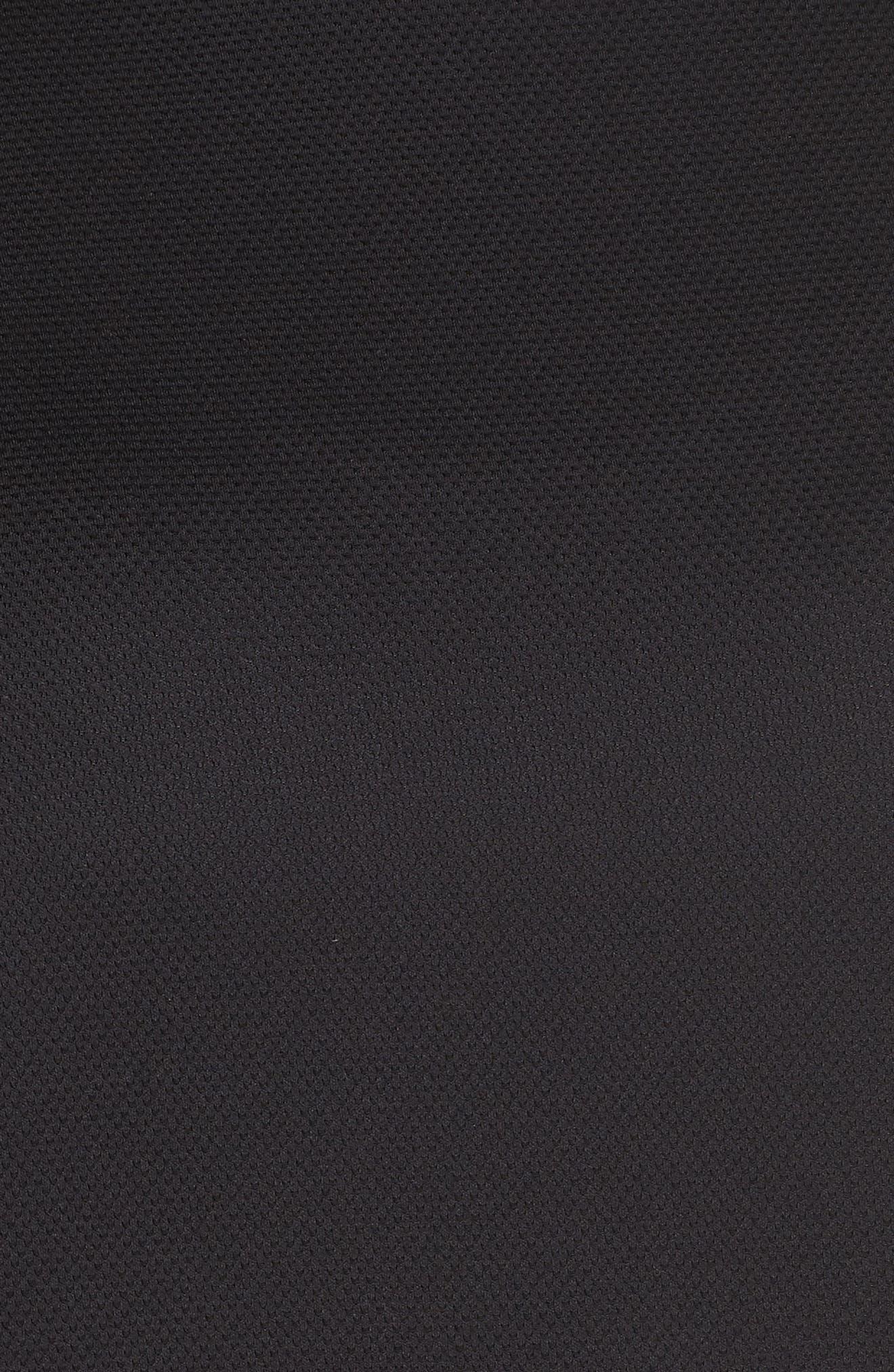 All About It Funnel Neck Sweatshirt,                             Alternate thumbnail 6, color,                             BLACK