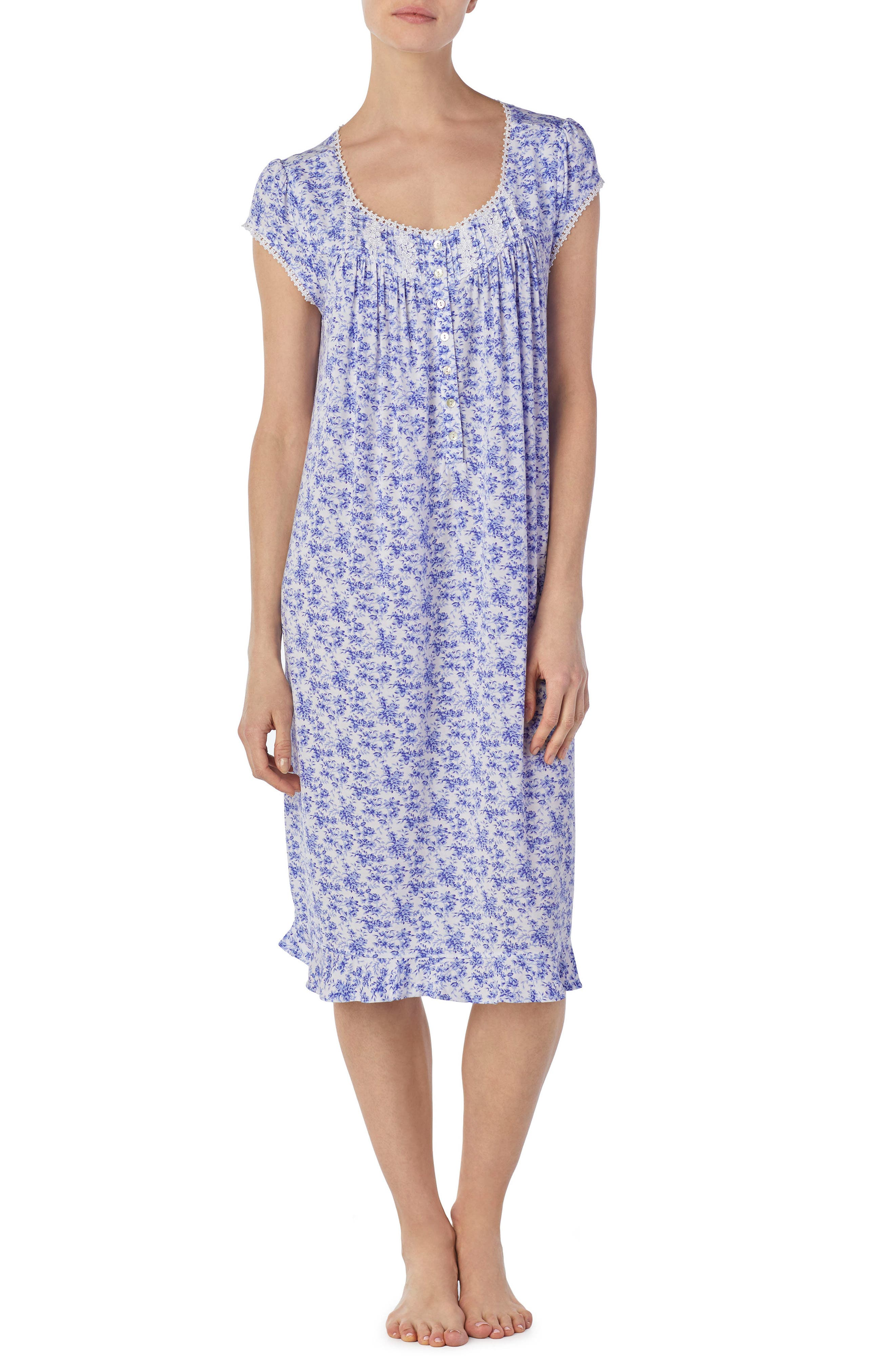 Floral Print Nightgown,                         Main,                         color, 570