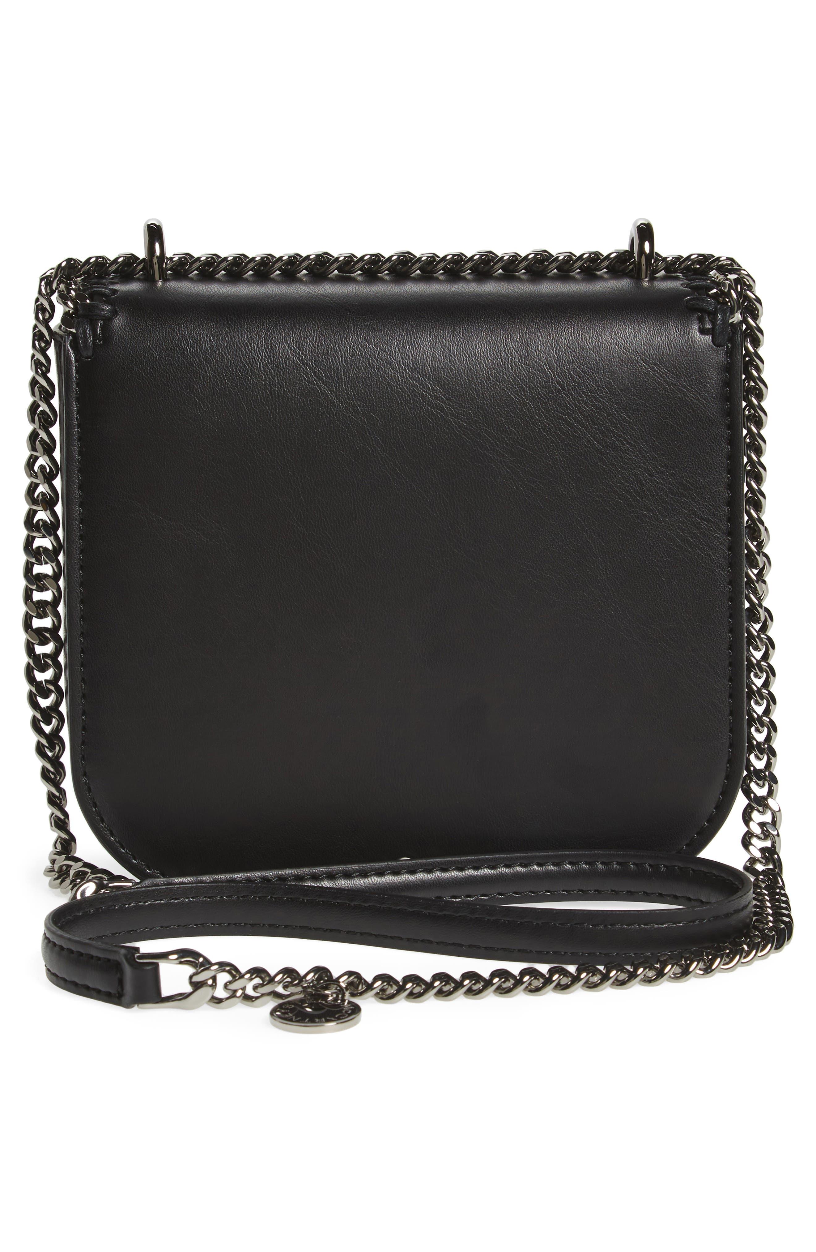 Small Falabella Box Alter Nappa Faux Leather Crossbody Bag,                             Alternate thumbnail 3, color,                             BLACK