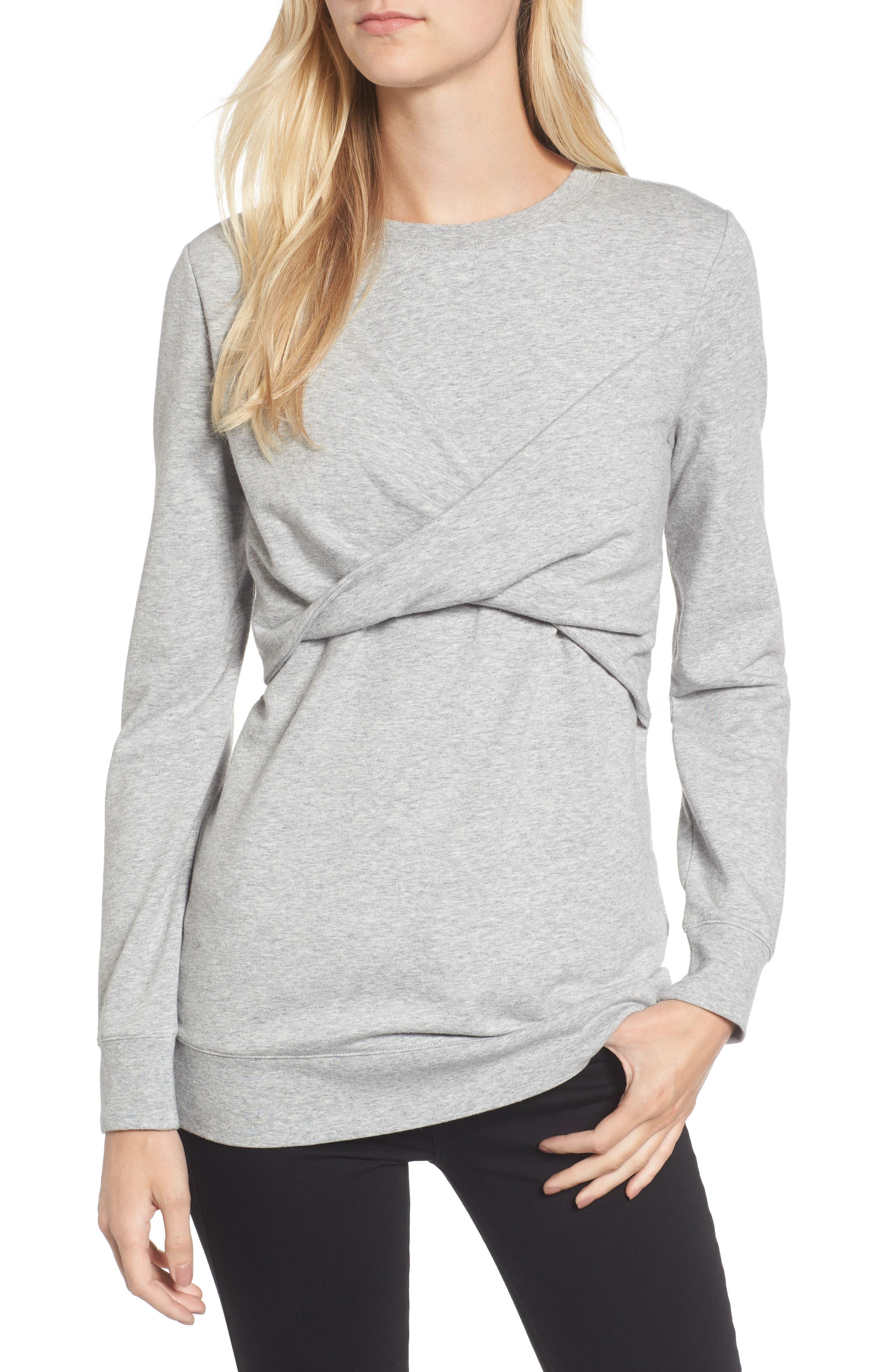Twist Front Sweatshirt,                             Main thumbnail 2, color,