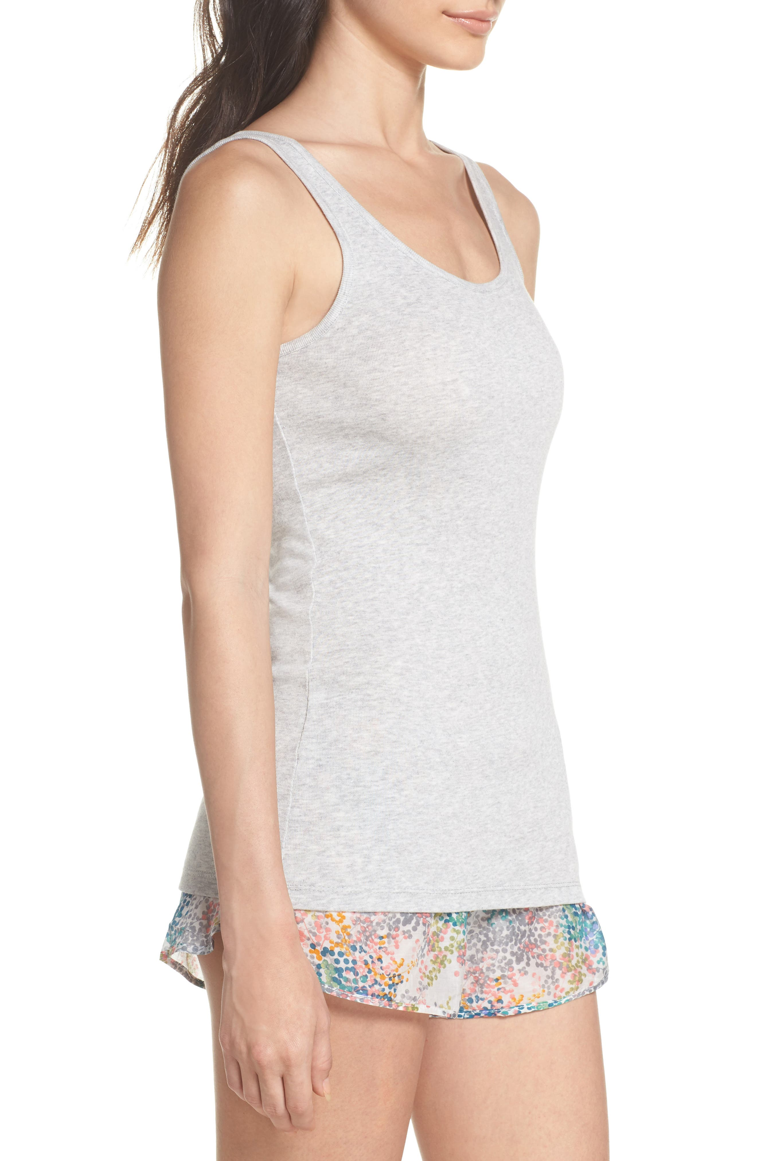 Scooped Neck Tank,                             Alternate thumbnail 3, color,                             GREY