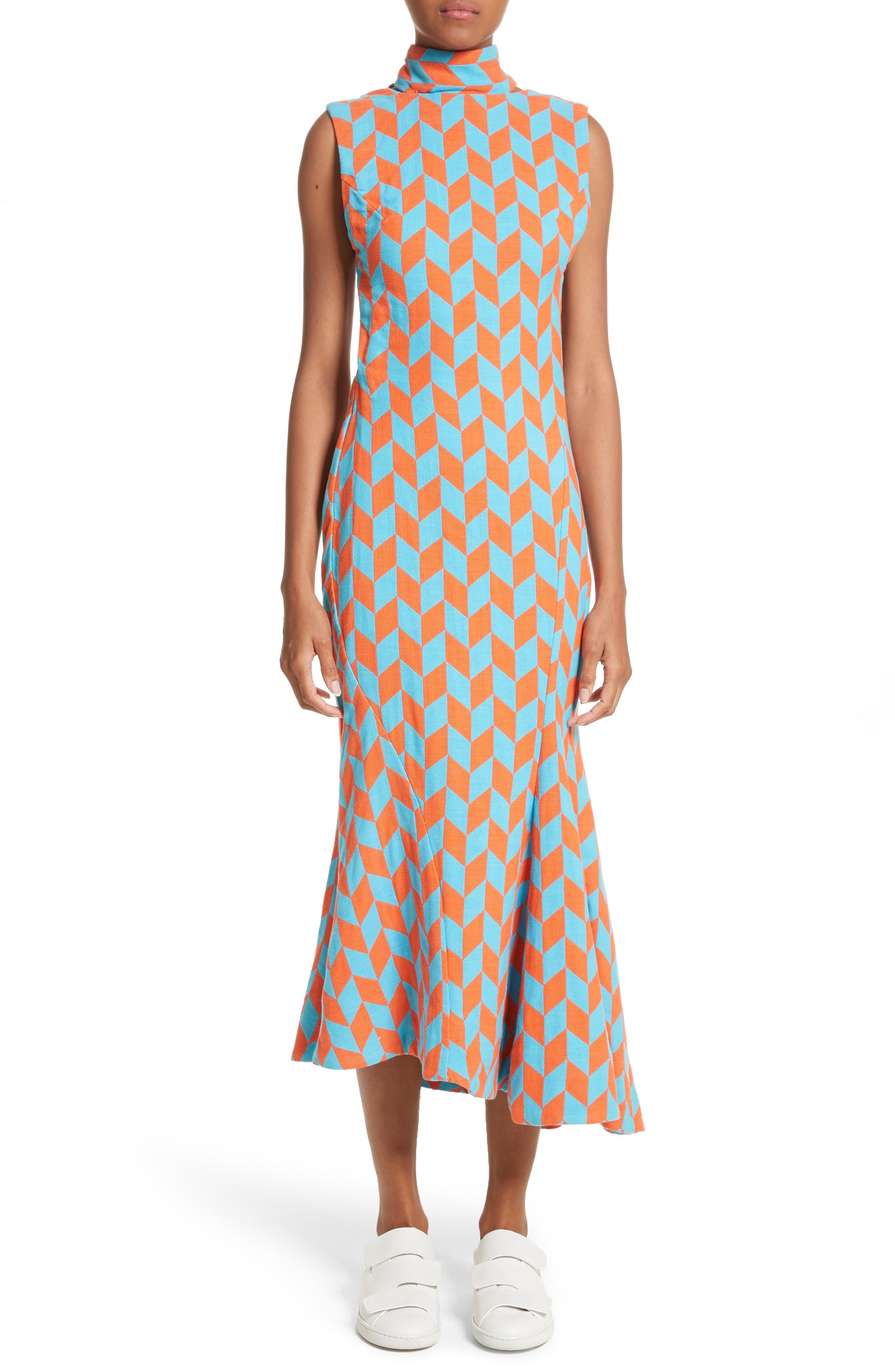 Backless Twist Seam Dress,                             Main thumbnail 1, color,                             800