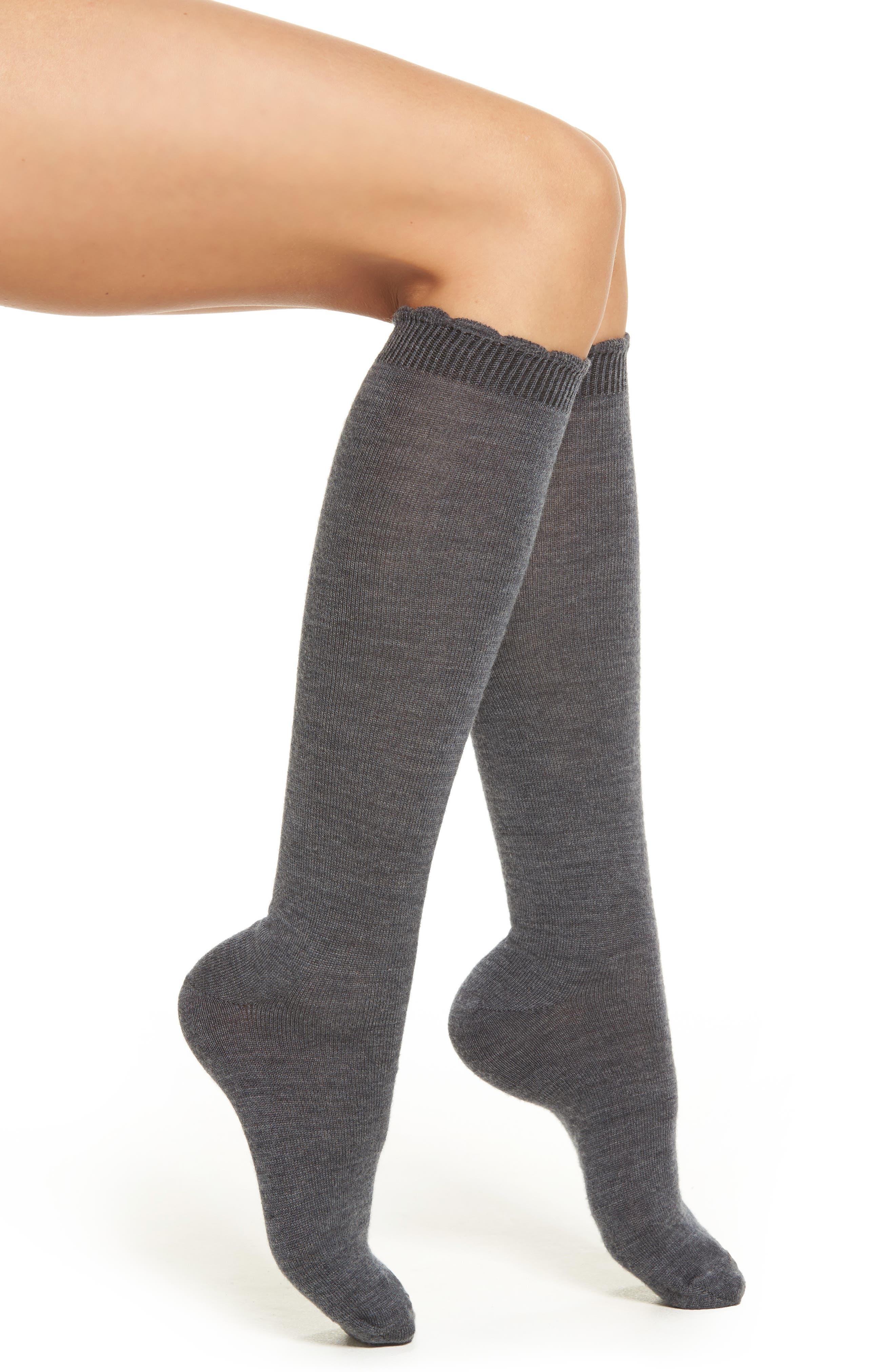 Merino Wool Blend Knee Socks,                             Main thumbnail 1, color,                             098