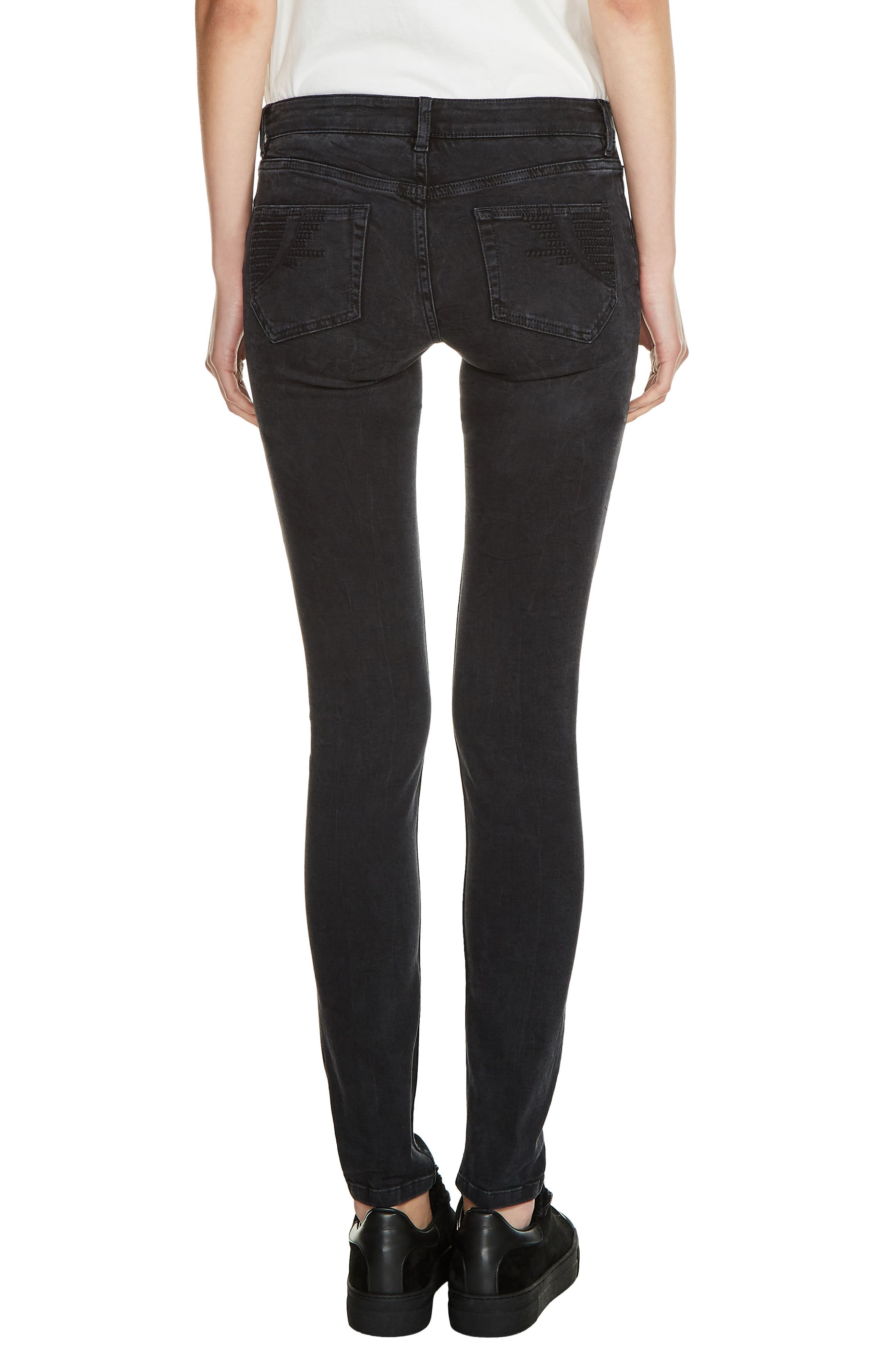 Low Rise Skinny Jeans,                             Alternate thumbnail 2, color,                             002