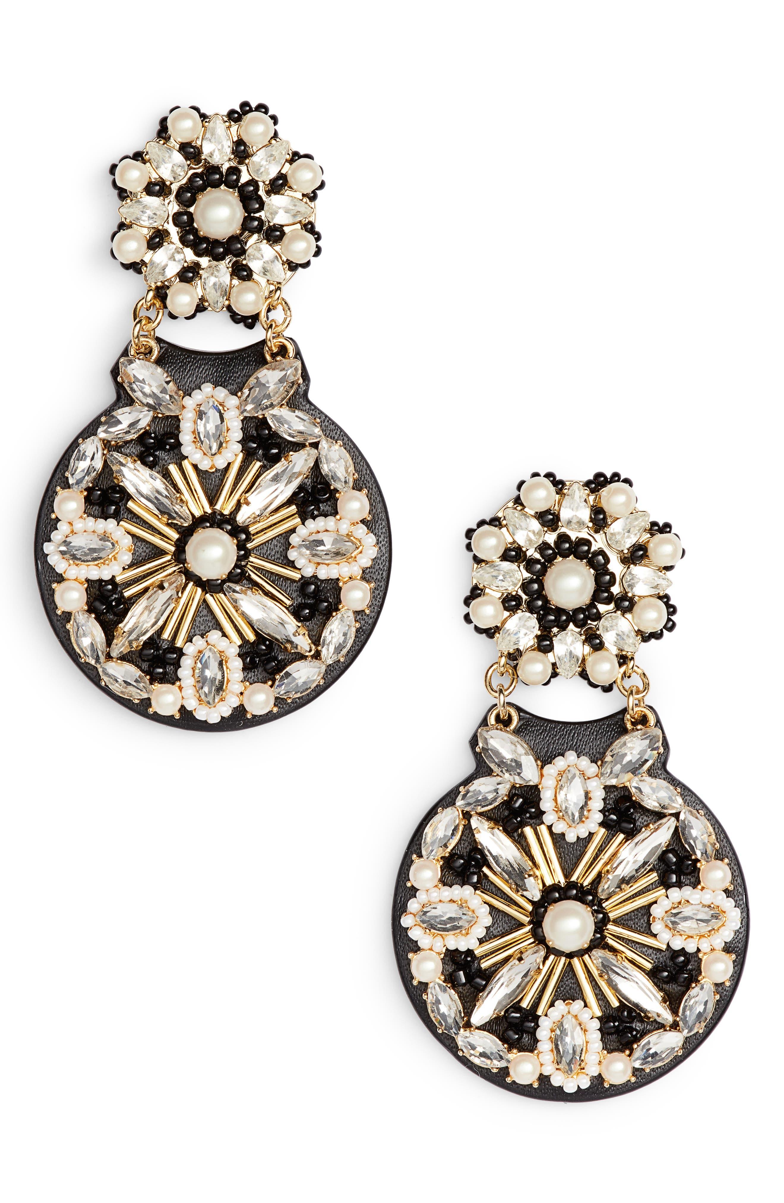 desert garden drop earrings,                             Main thumbnail 1, color,                             BLACK MULTI