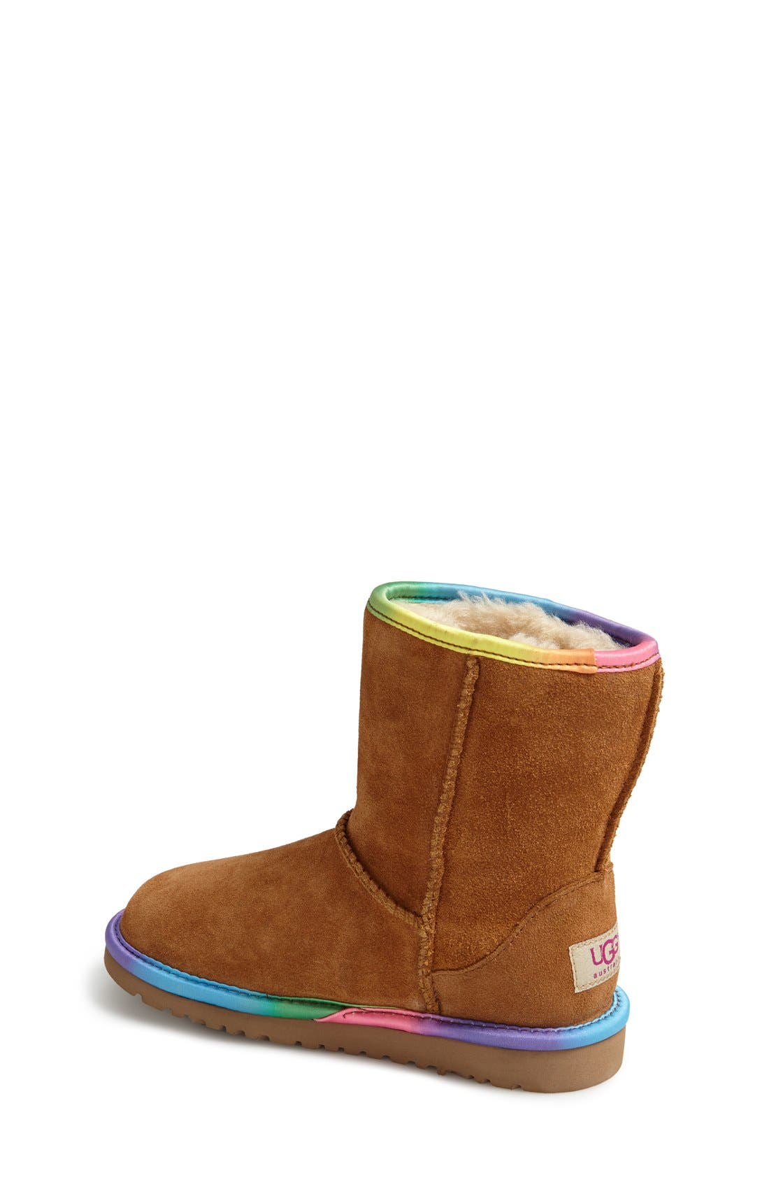 Australia 'Classic Short' Rainbow Boot,                             Alternate thumbnail 2, color,                             219